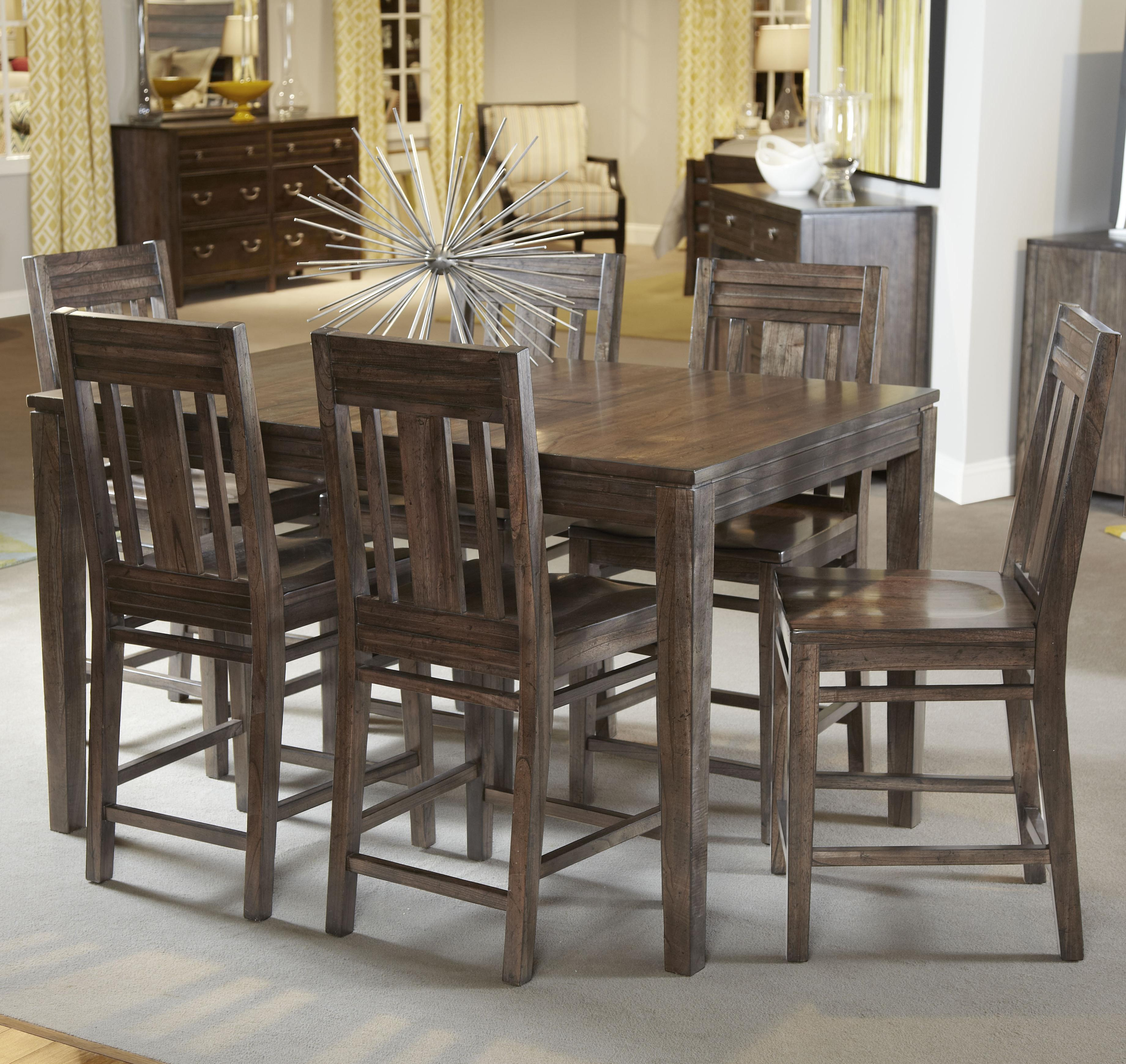 Seven piece casual counter height dining set by kincaid