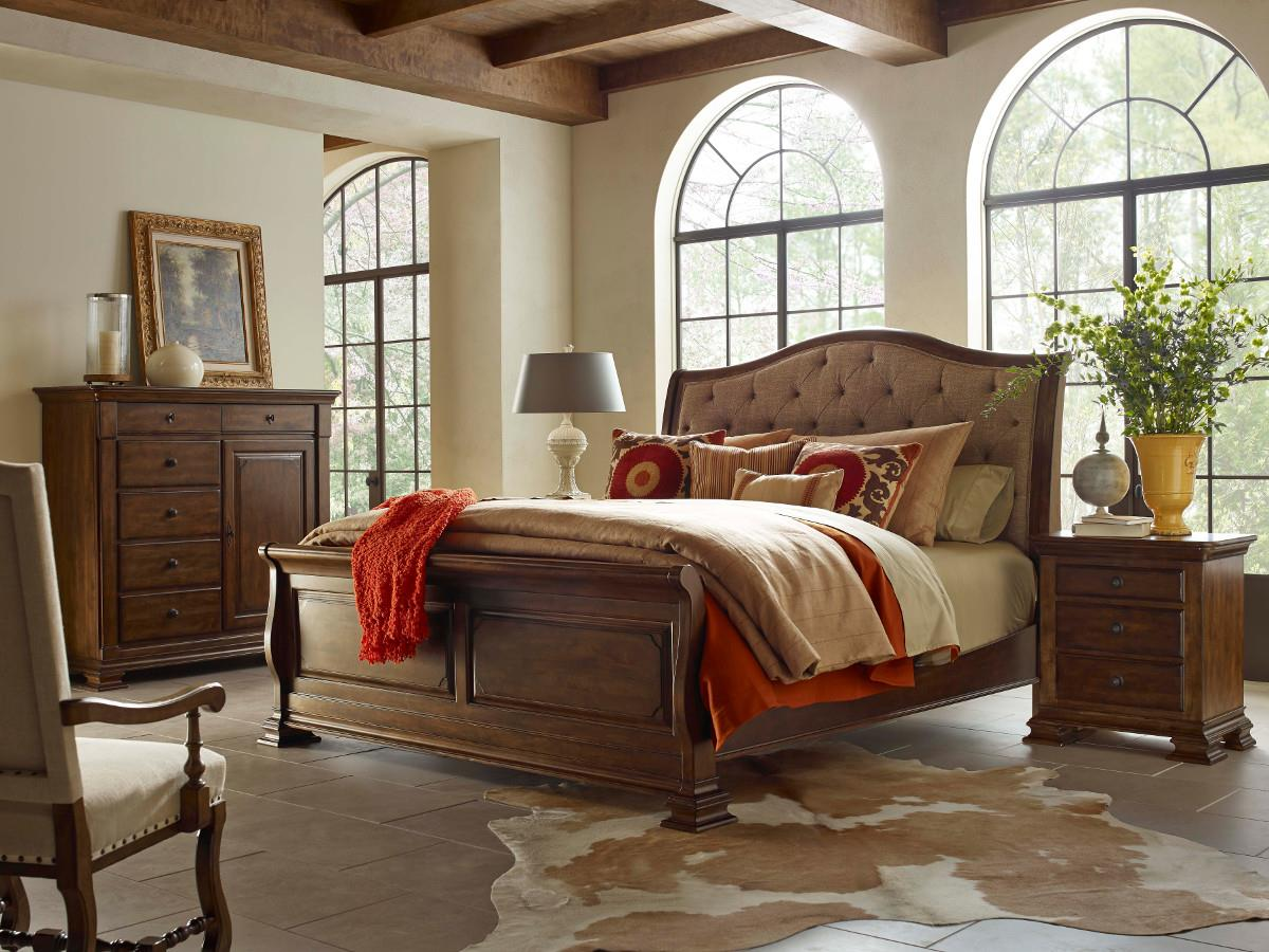 King Portolone Upholstered Sleigh Bed By Kincaid Furniture Wolf And Gardiner Wolf Furniture