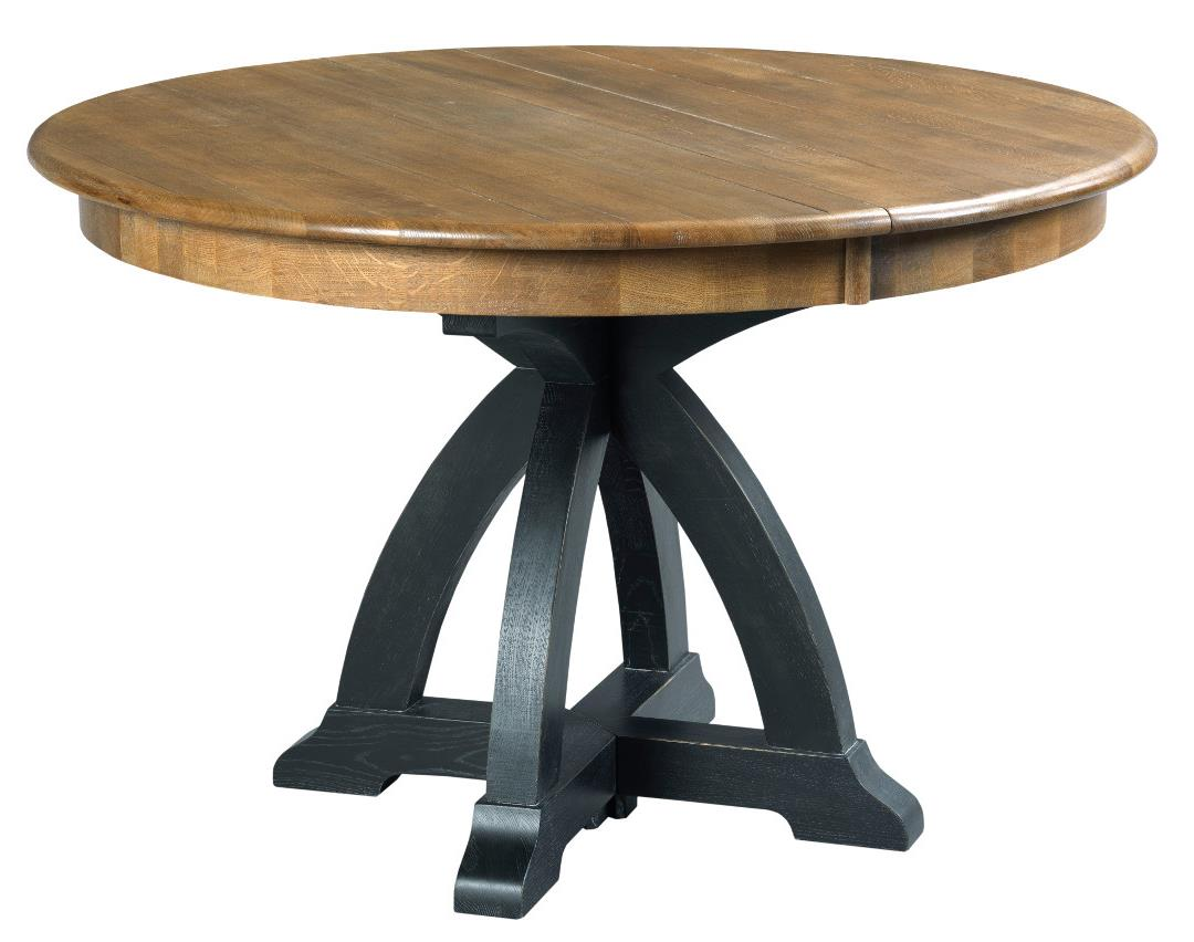 five piece dining set with round table and one table