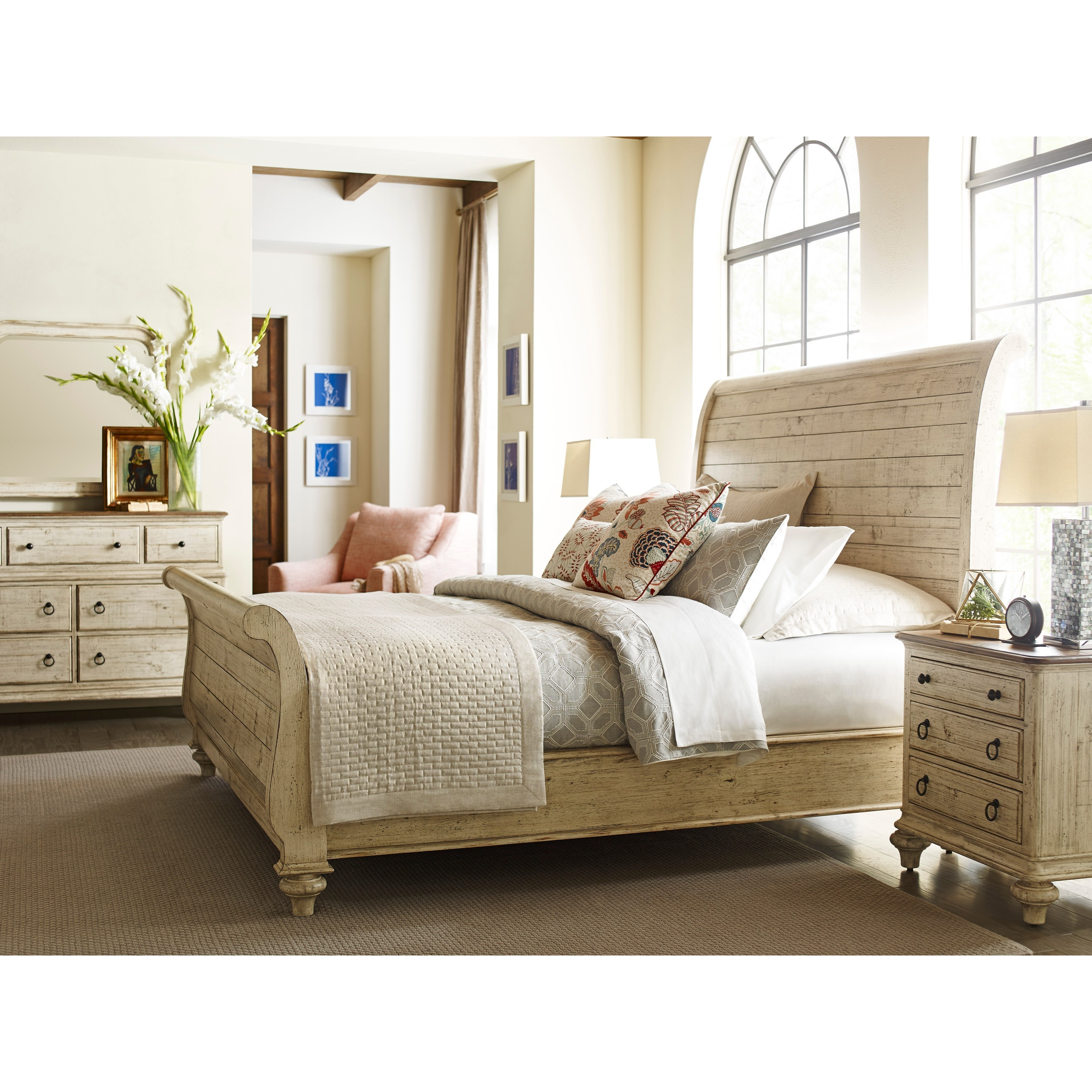 Lynton Sleigh Bed King Size By Kincaid Furniture Wolf And Gardiner Wolf Furniture