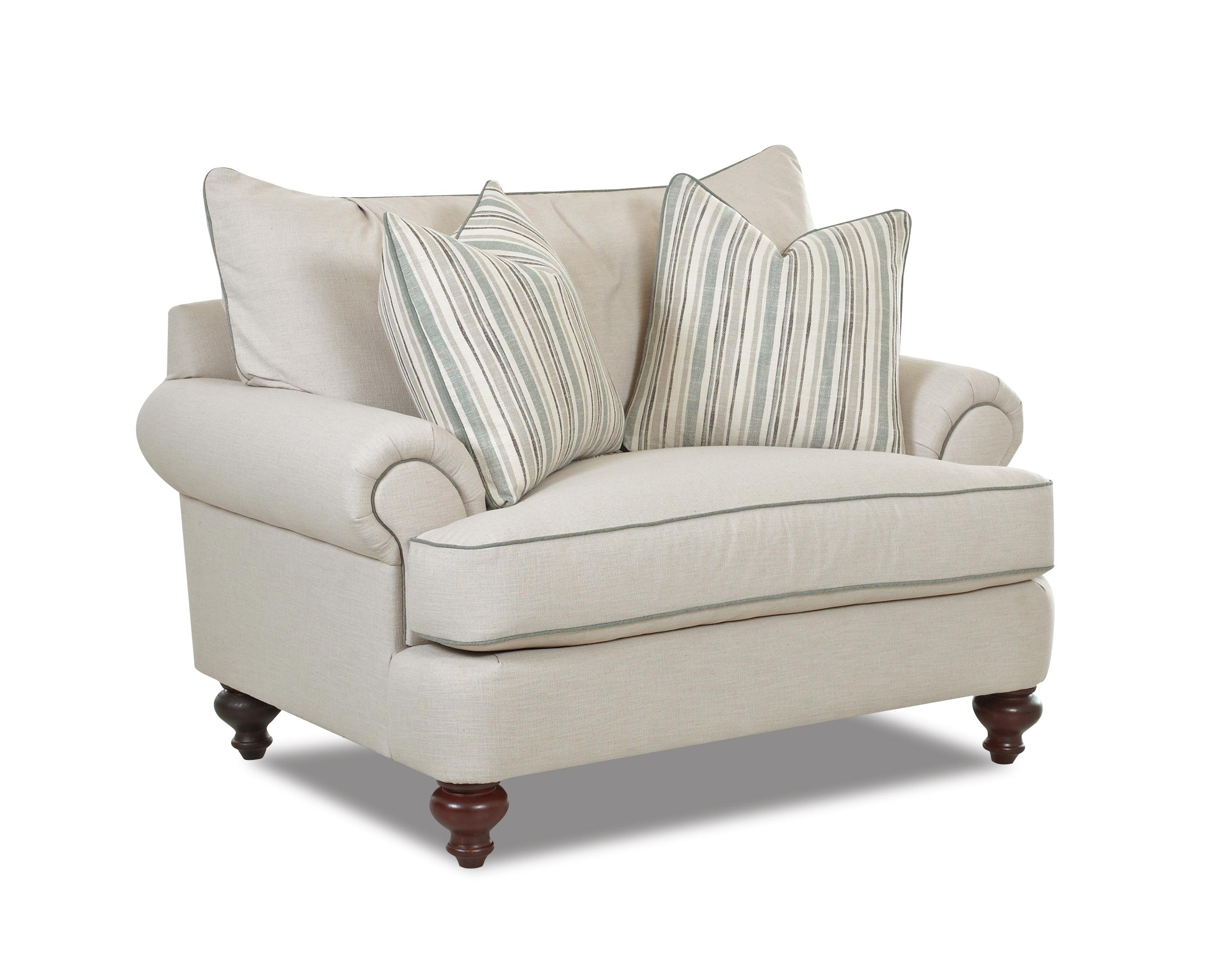 Traditional upholstered chair with t shaped down cushions for Traditional sofas with legs