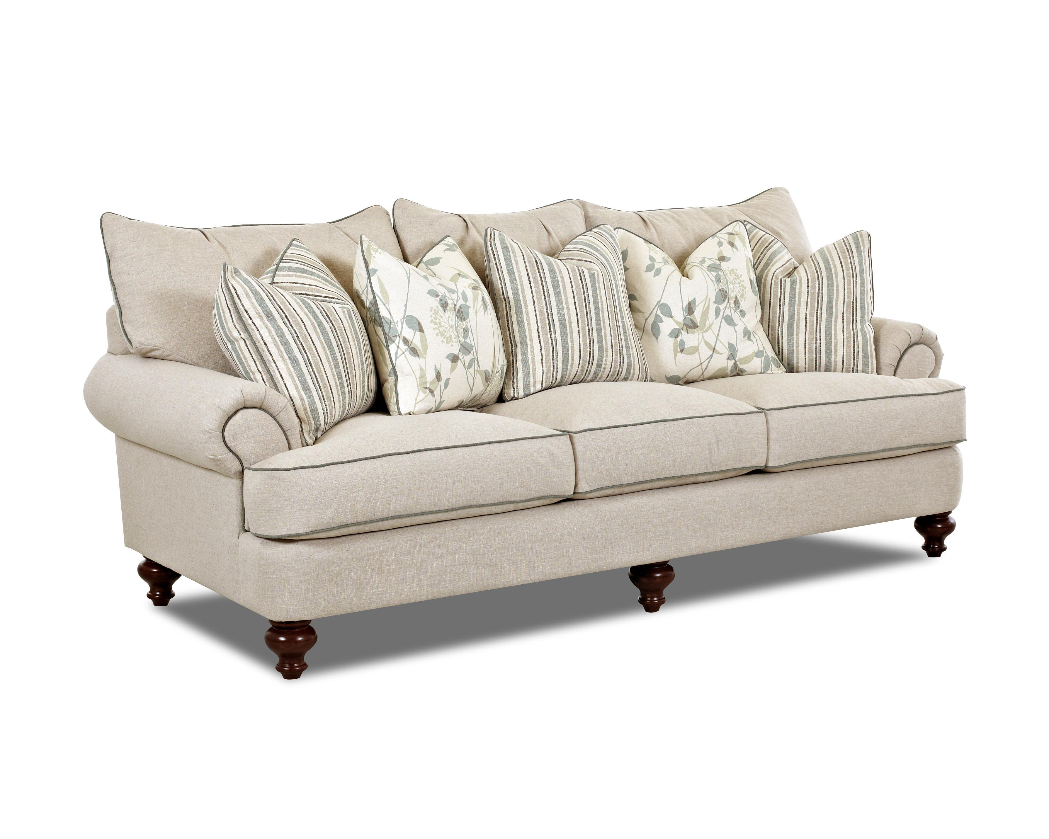 Traditional upholstered sofa with t shaped down cushions for Traditional sofas and loveseats