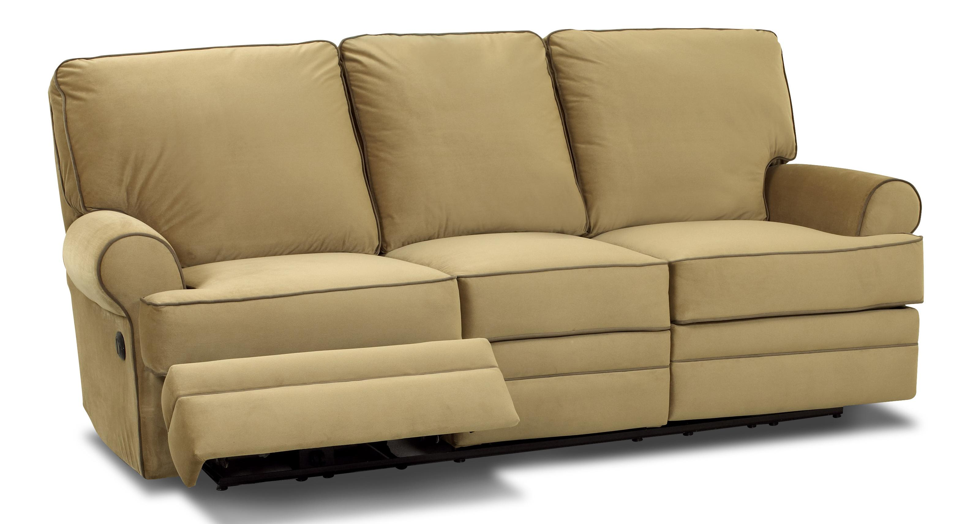 Transitional dual reclining sofa by klaussner wolf and - Sofa reclinable ...