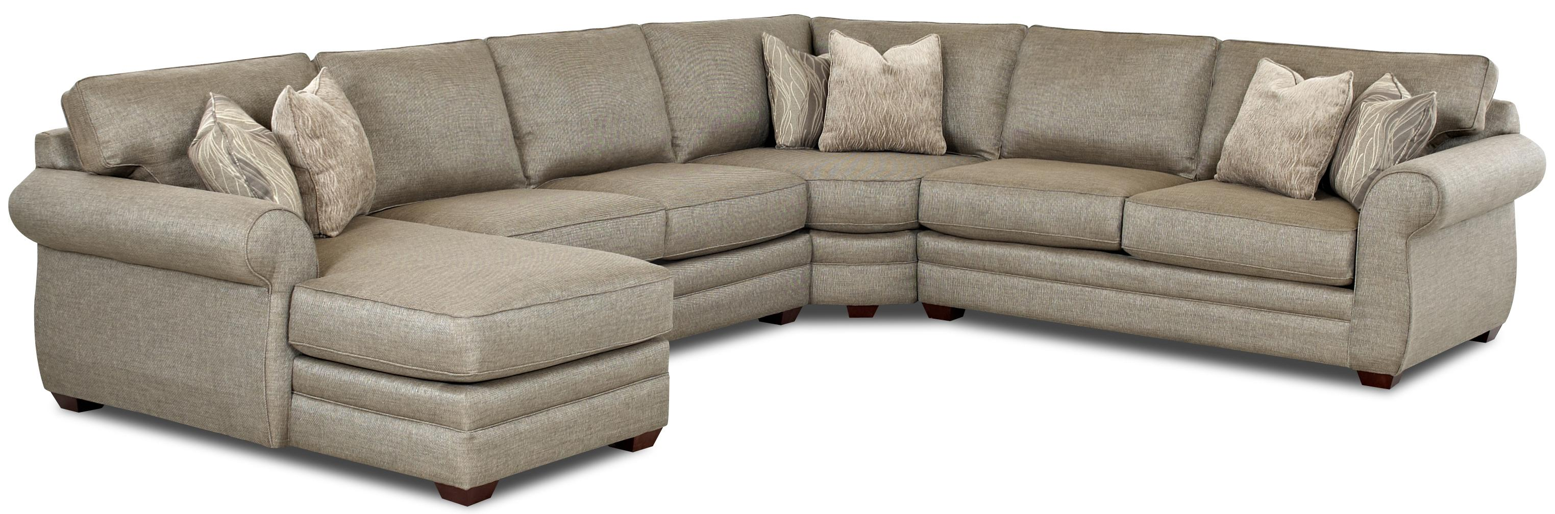 Transitional sectional sofa with left chaise and full for Transitional sectional sofa sleeper