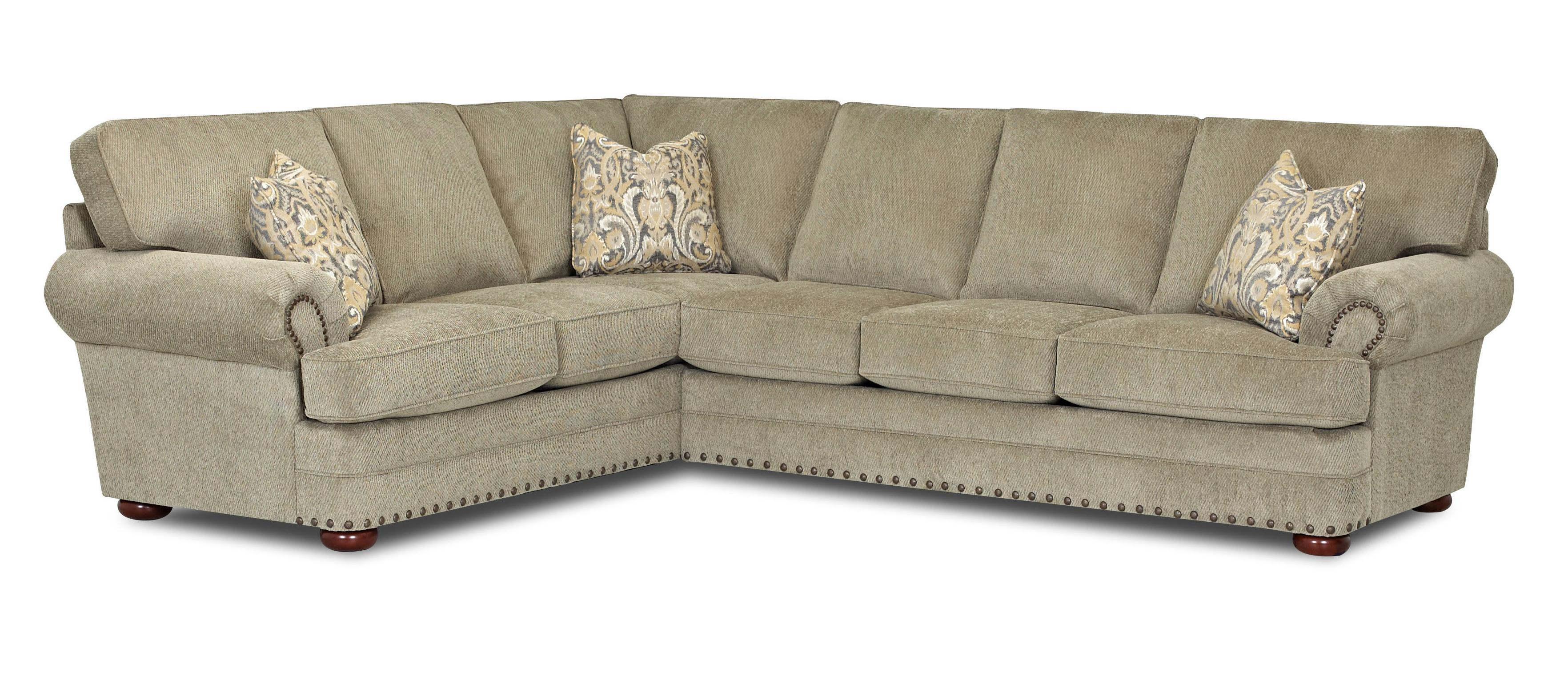 Traditional 2 piece sectional sofa by klaussner wolf and for Sectional sofas wolf furniture
