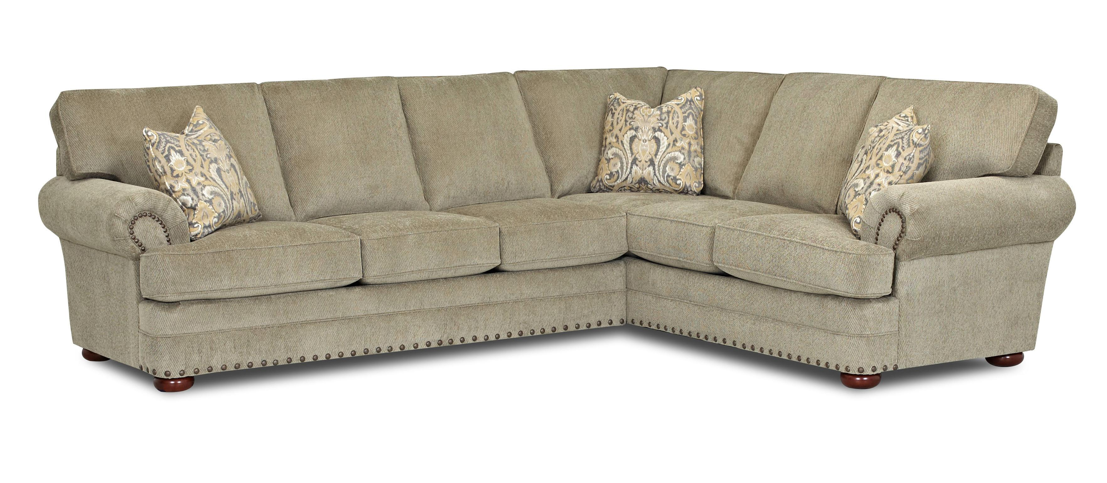 Traditional 2 piece sectional sofa by klaussner wolf and for Traditional sectional
