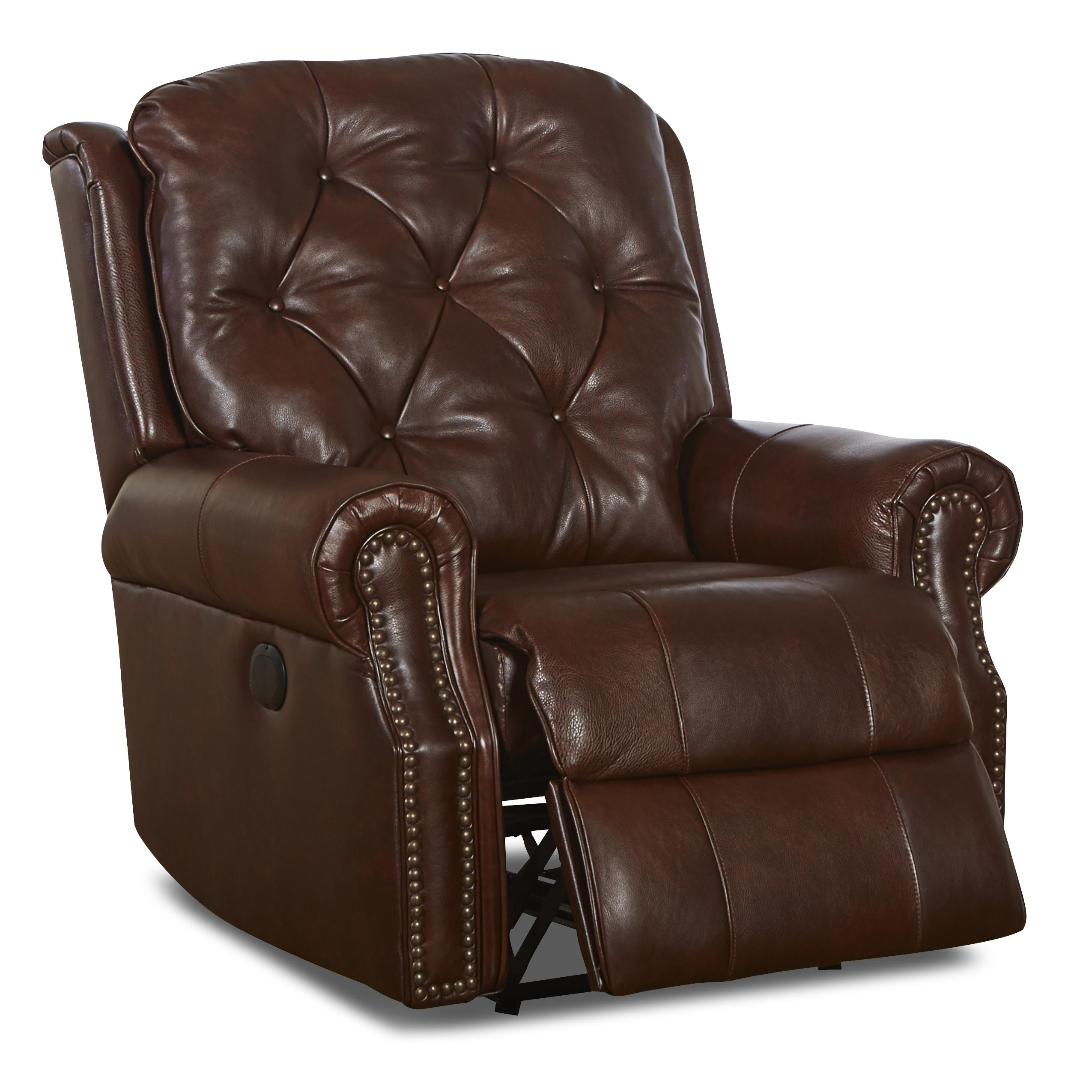 Traditional Swivel Rocking Recliner With Attached Back