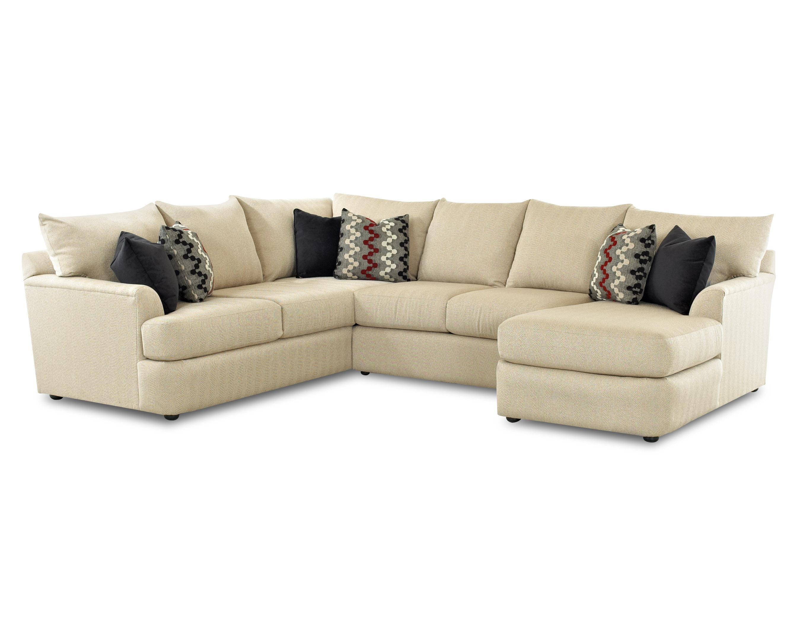 Sectional sofa with right arm chaise lounger by klaussner for One arm sofa chaise