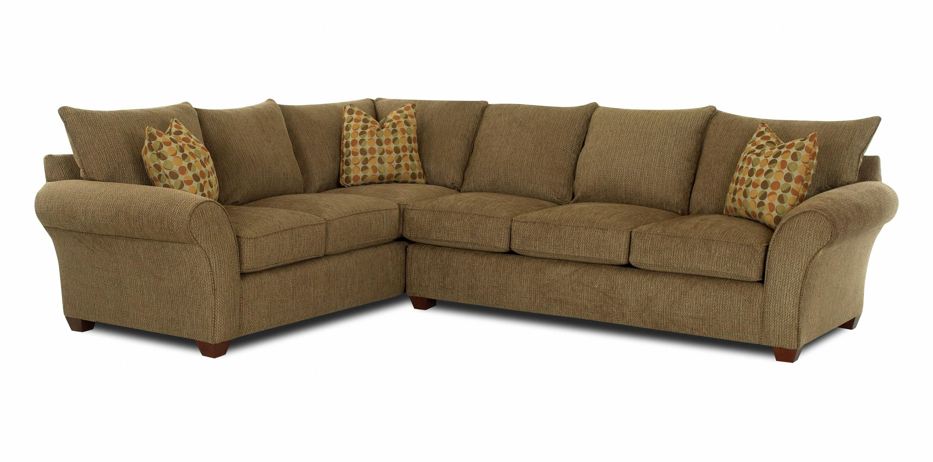 Transitional 2 piece sectional sofa by klaussner wolf for Sectional sofas wolf furniture
