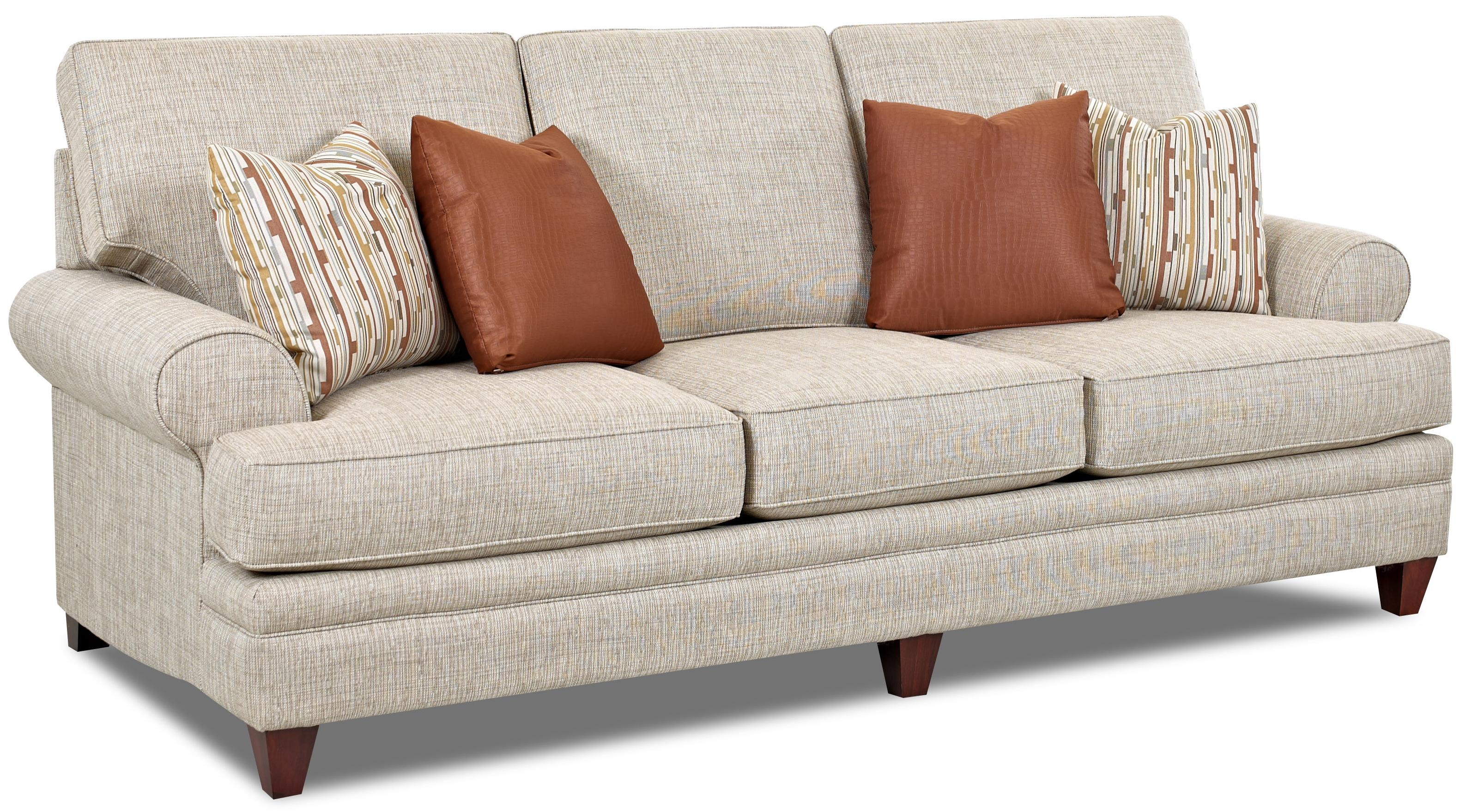 Transitional sofa with low profile rolled arms by for Low height sectional sofa