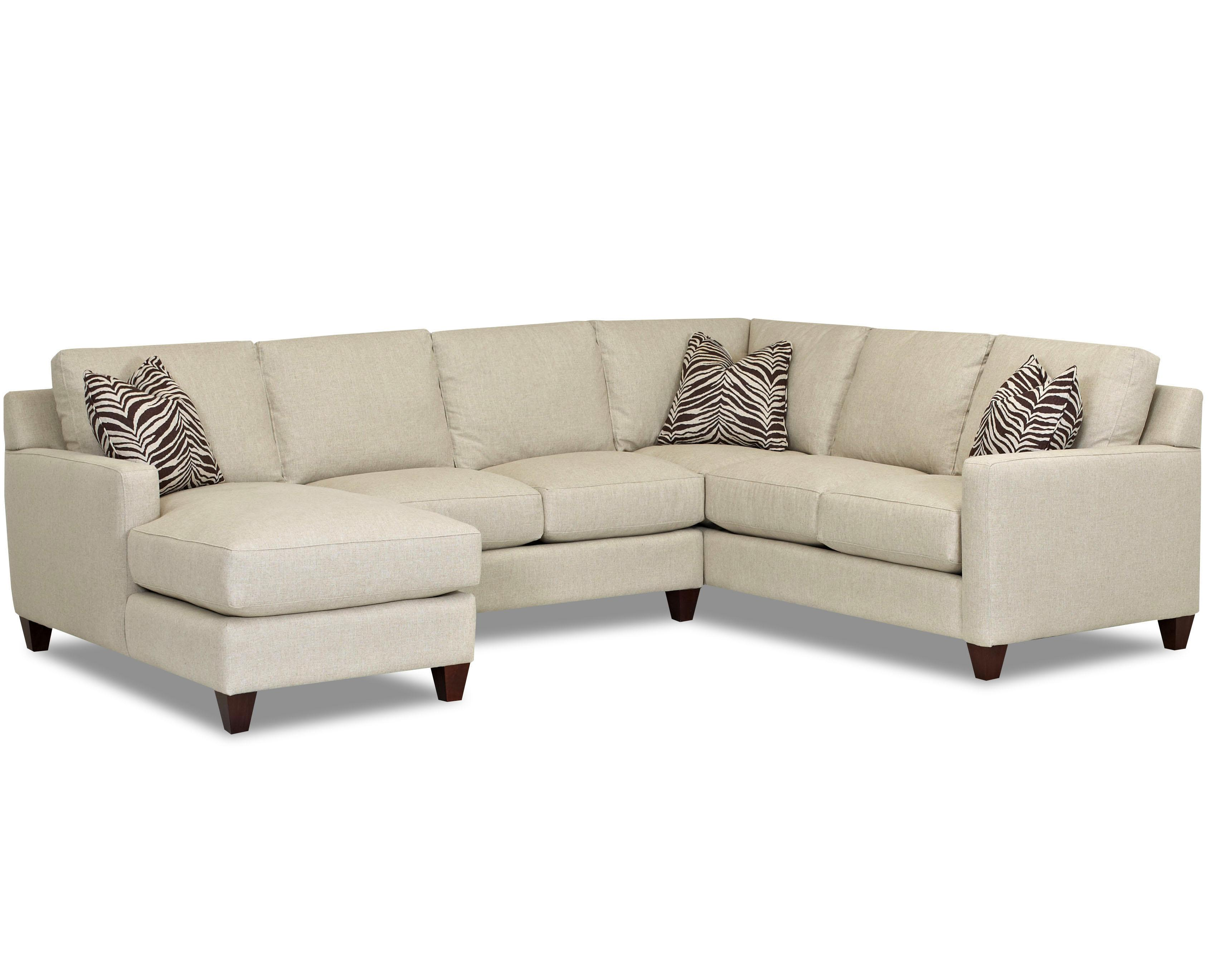 Contemporary stationary sectional with track arms left for Sectional sofas left facing chaise