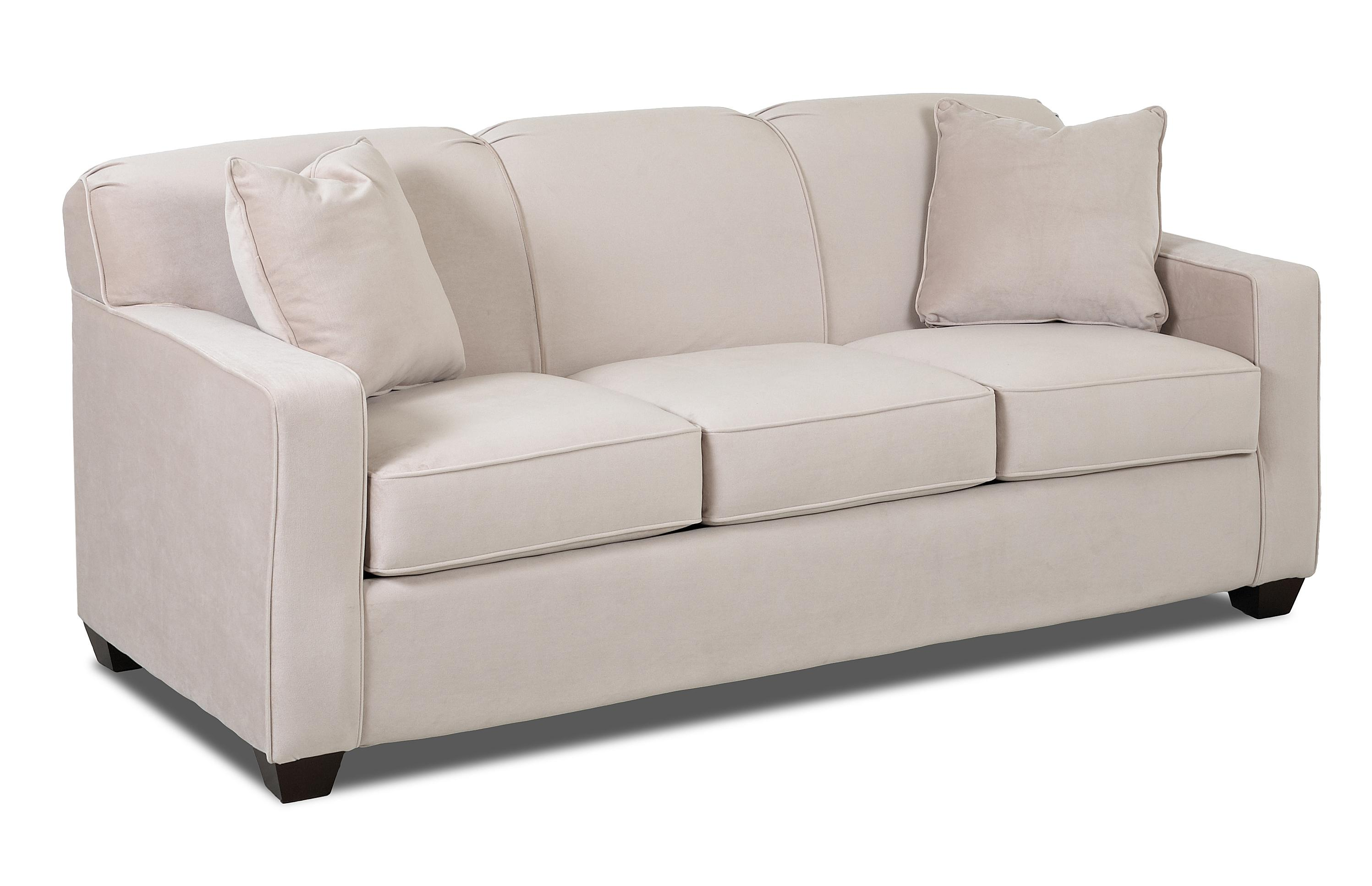 Contemporary sofa with tight back and track arms by for Sofa with only one arm