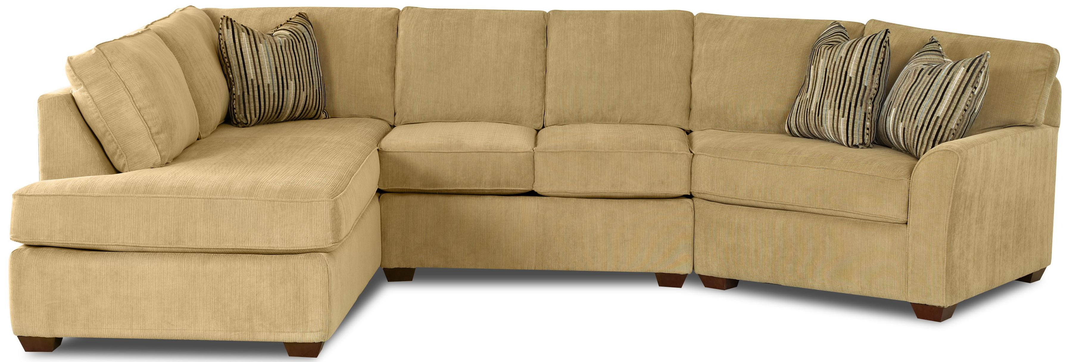 Contemporary sectional sofa with left chaise by klaussner for Amazon ca sectional sofa