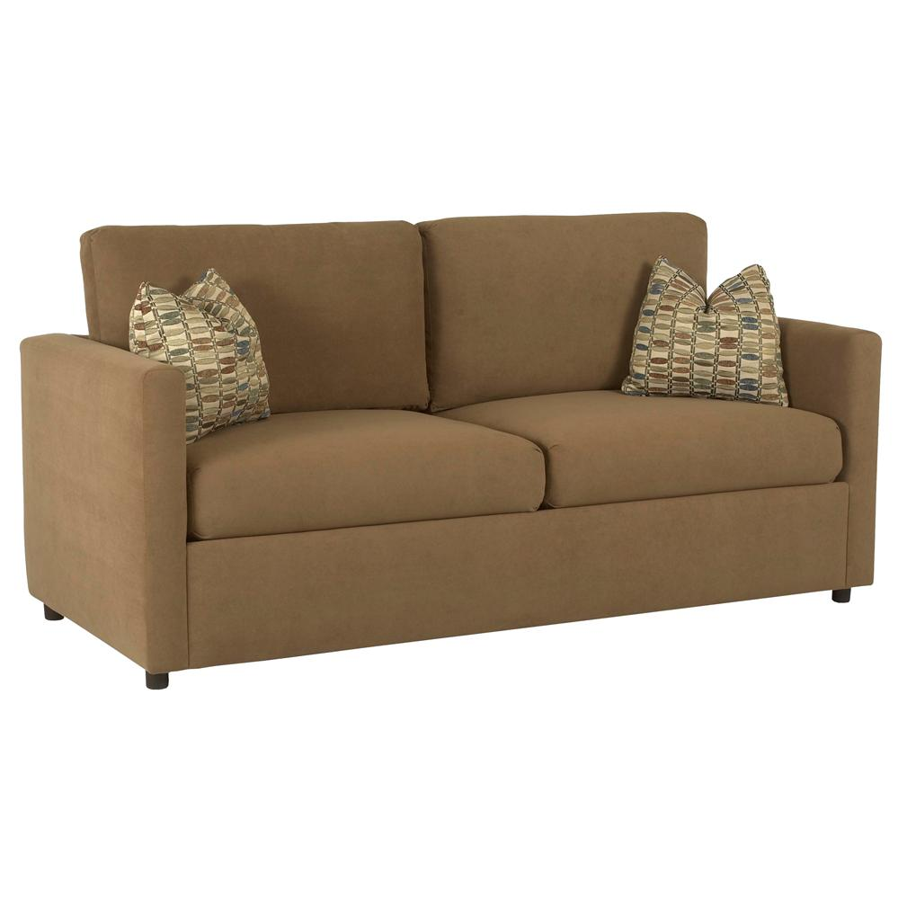 Casual queen sleeper sofa by klaussner wolf and gardiner for Sectional sofa with recliner and queen sleeper