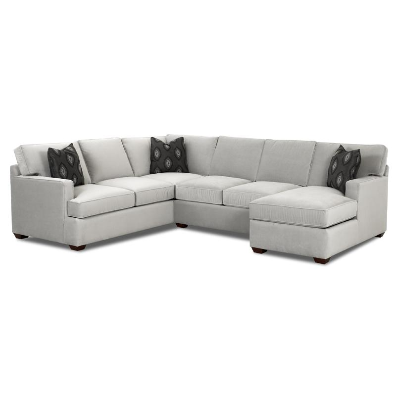 Sectional sofa group with chaise lounge by klaussner for Sectional sofas wolf furniture