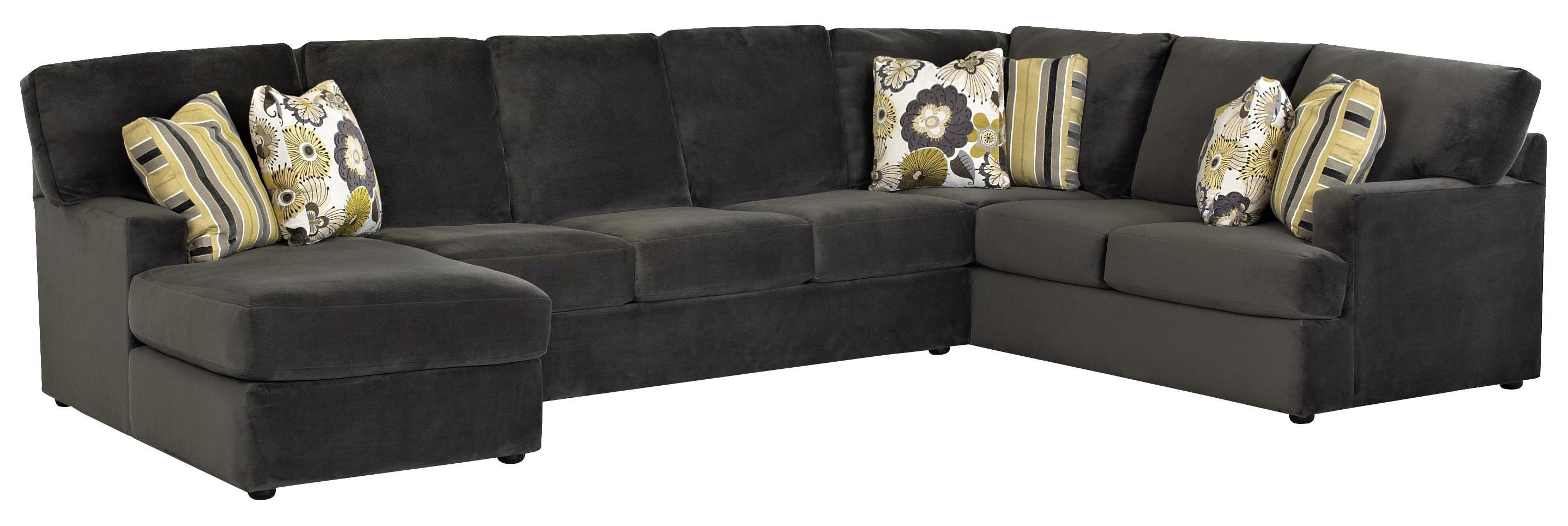 Sectional sofa with left side chaise by klaussner wolf for Sectional sofas wolf furniture