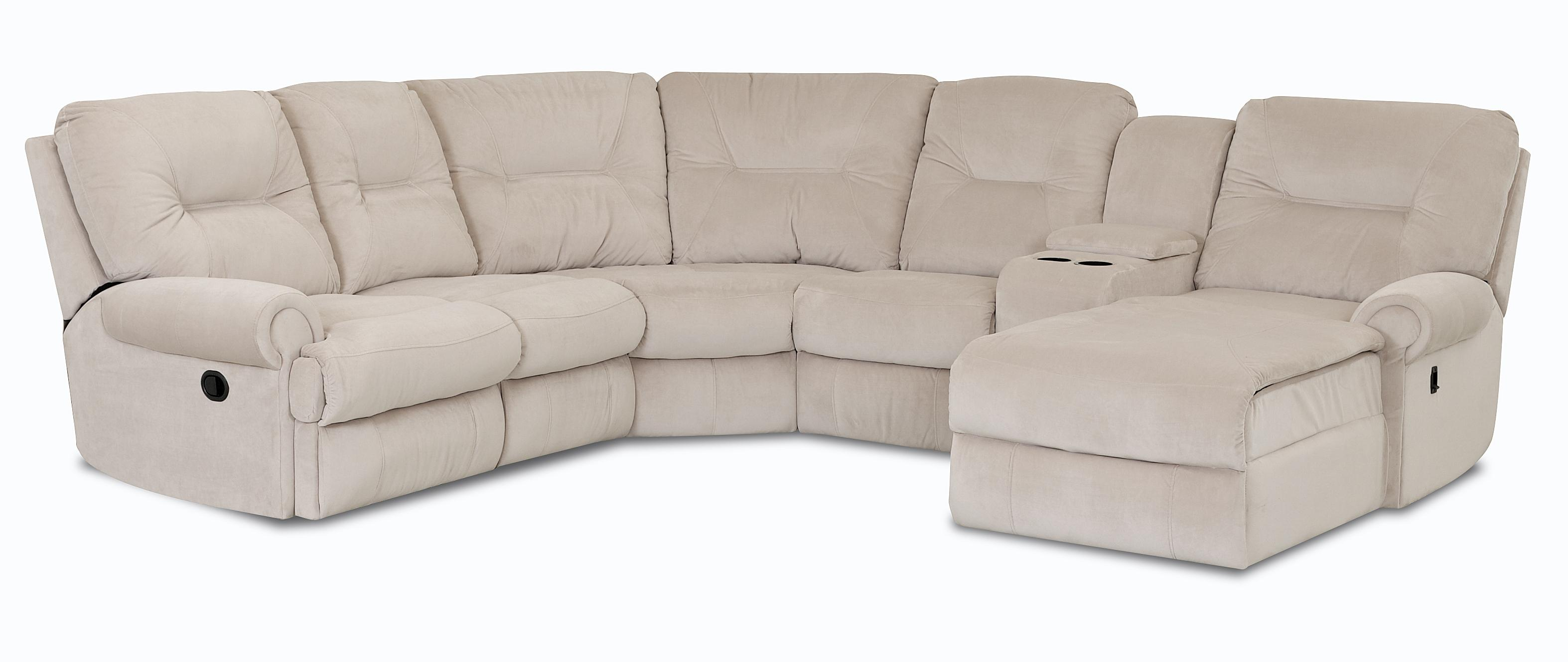 Traditional reclining sectional sofa by klaussner wolf for Sectional sofas wolf furniture