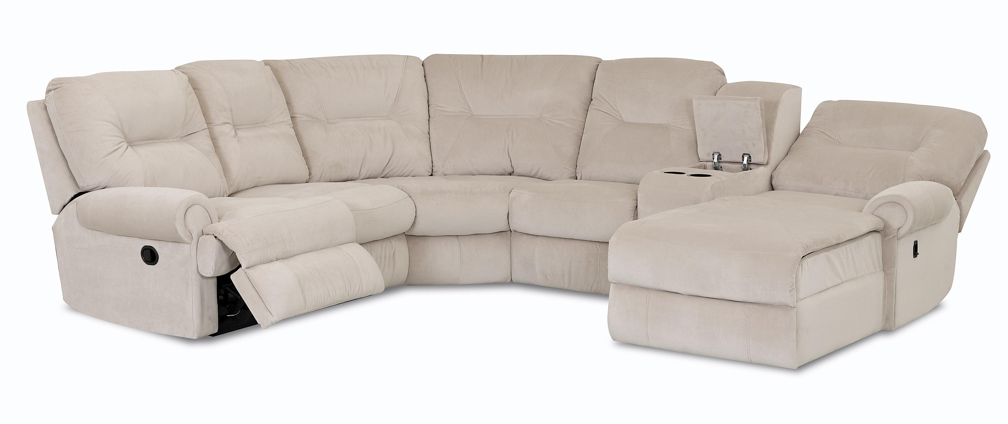 Traditional reclining sectional sofa by klaussner wolf for Traditional sofas and loveseats