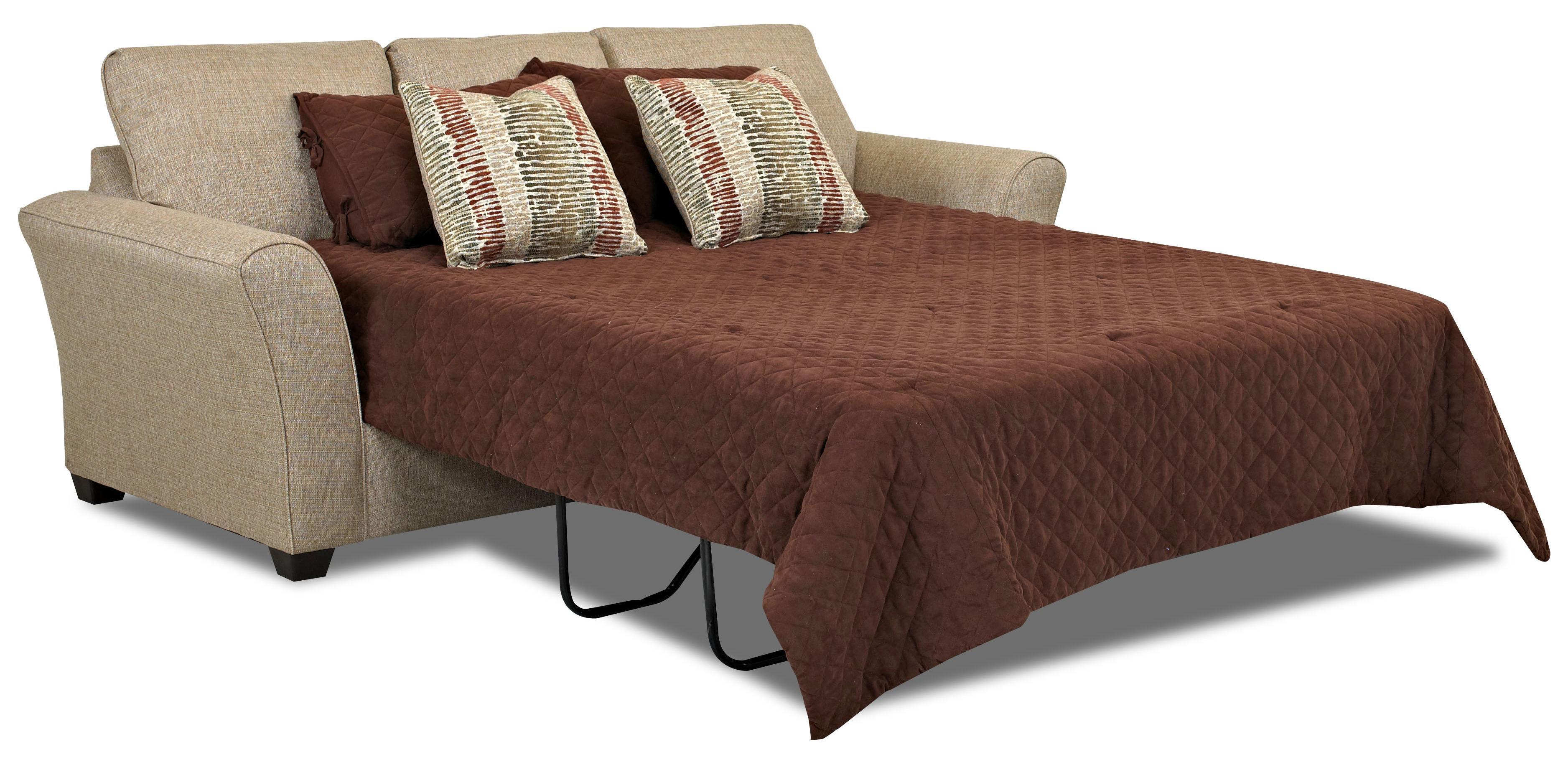 Transitional queen inner spring sleeper sofa by klaussner for Transitional sectional sofa sleeper