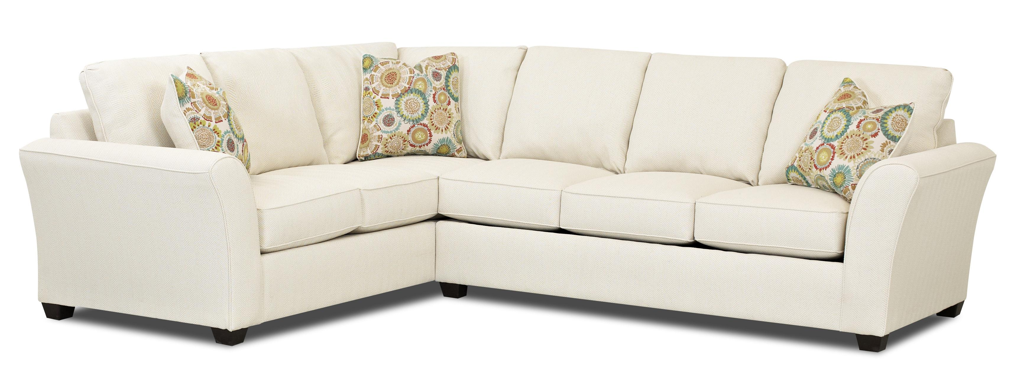 Transitional sectional sleeper sofa with dreamquest for Sleeper sectional