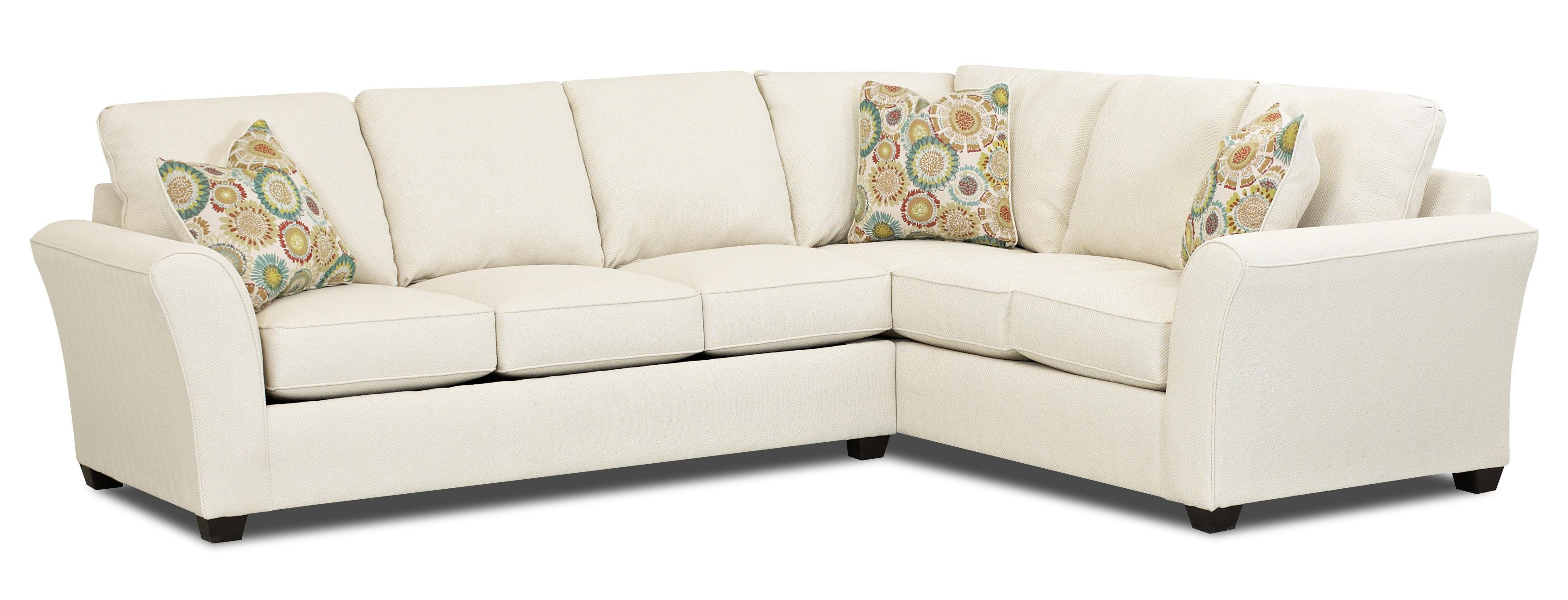 Transitional 2 piece sectional sofa by klaussner wolf for Two piece sectional sofa bed
