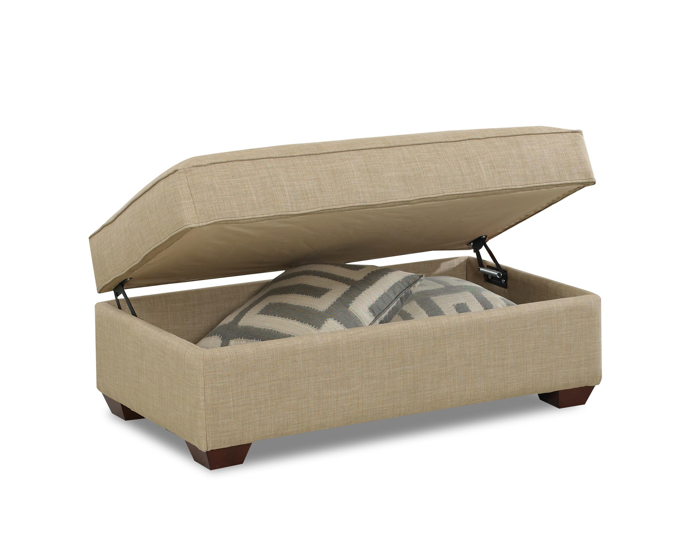 Contemporary Storage Ottoman by Klaussner | Wolf Furniture