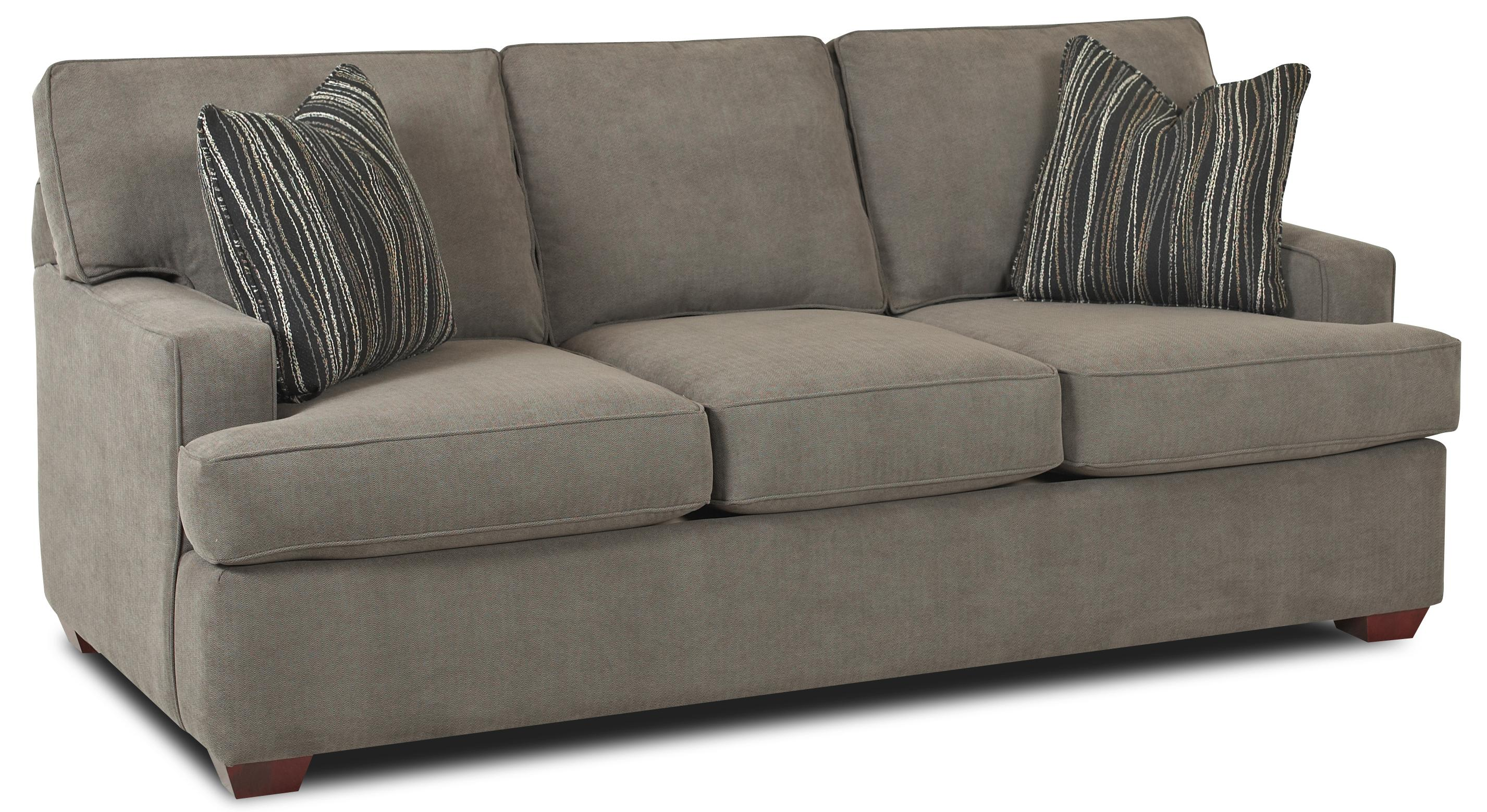 Contemporary three seat sofa by klaussner wolf and for Sectional sofas wolf furniture