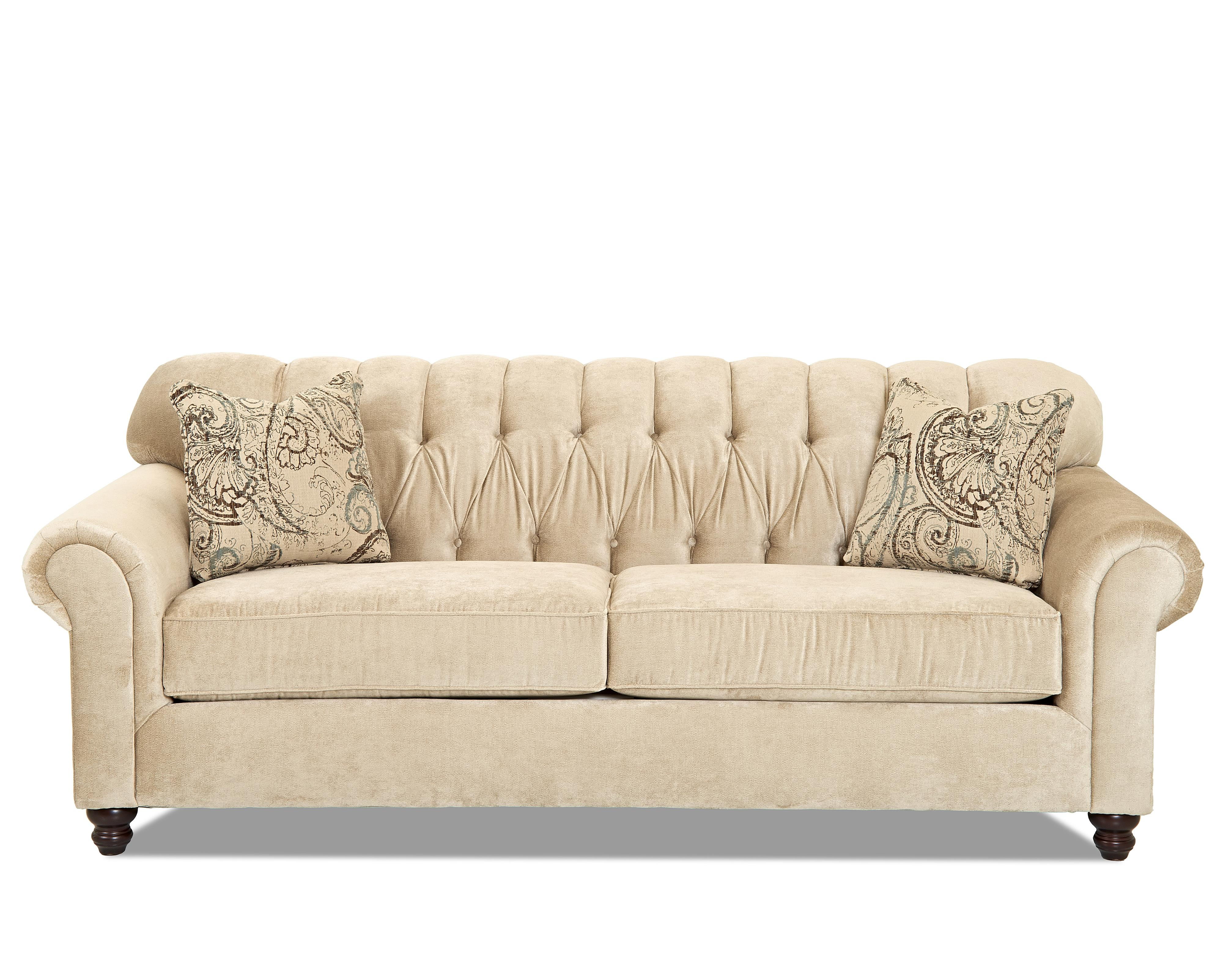 Traditional sofa with tufted back by klaussner wolf and - Modelos de sofas ...