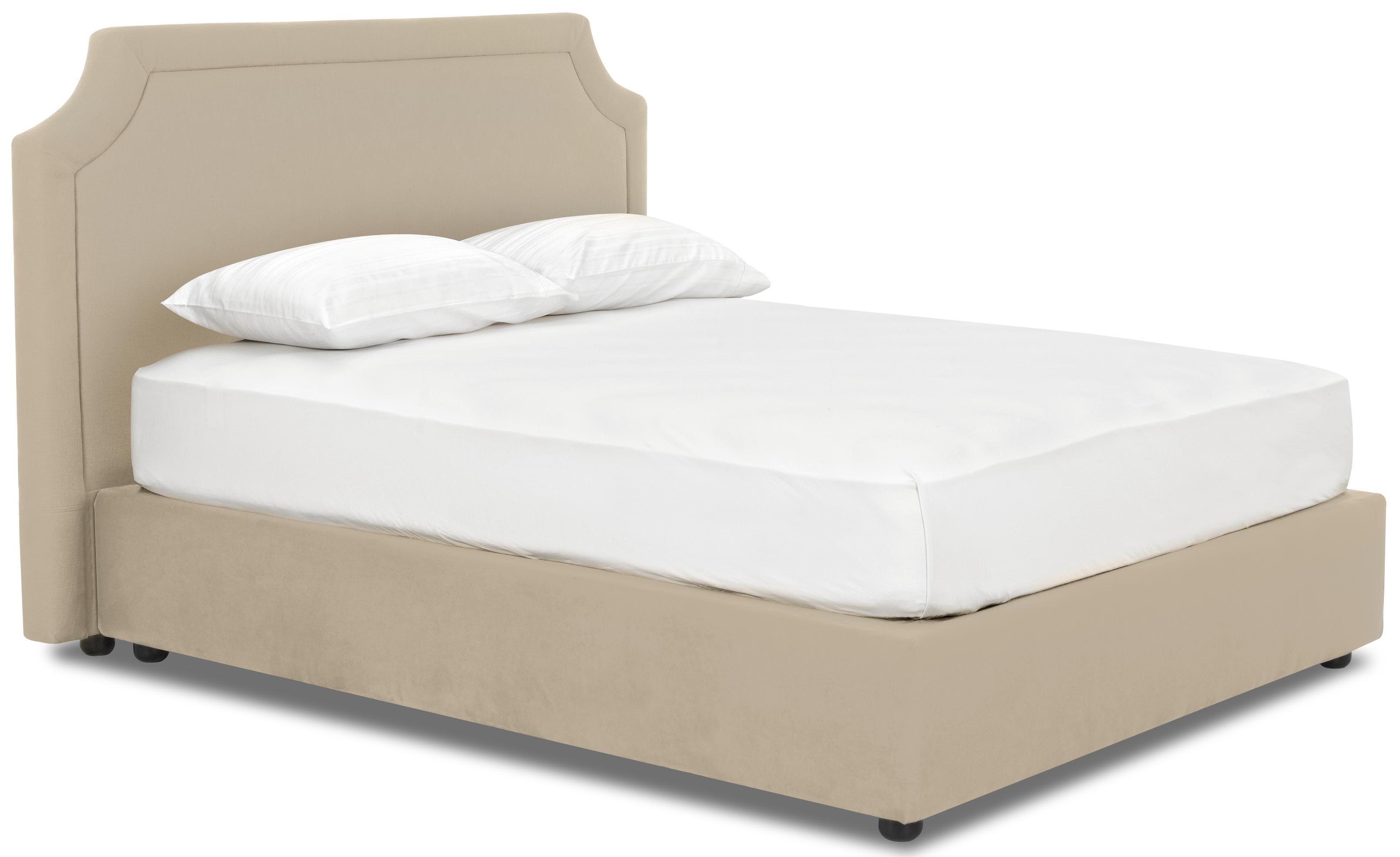 Queen upholstered platform bed by klaussner wolf and for Upholstered beds
