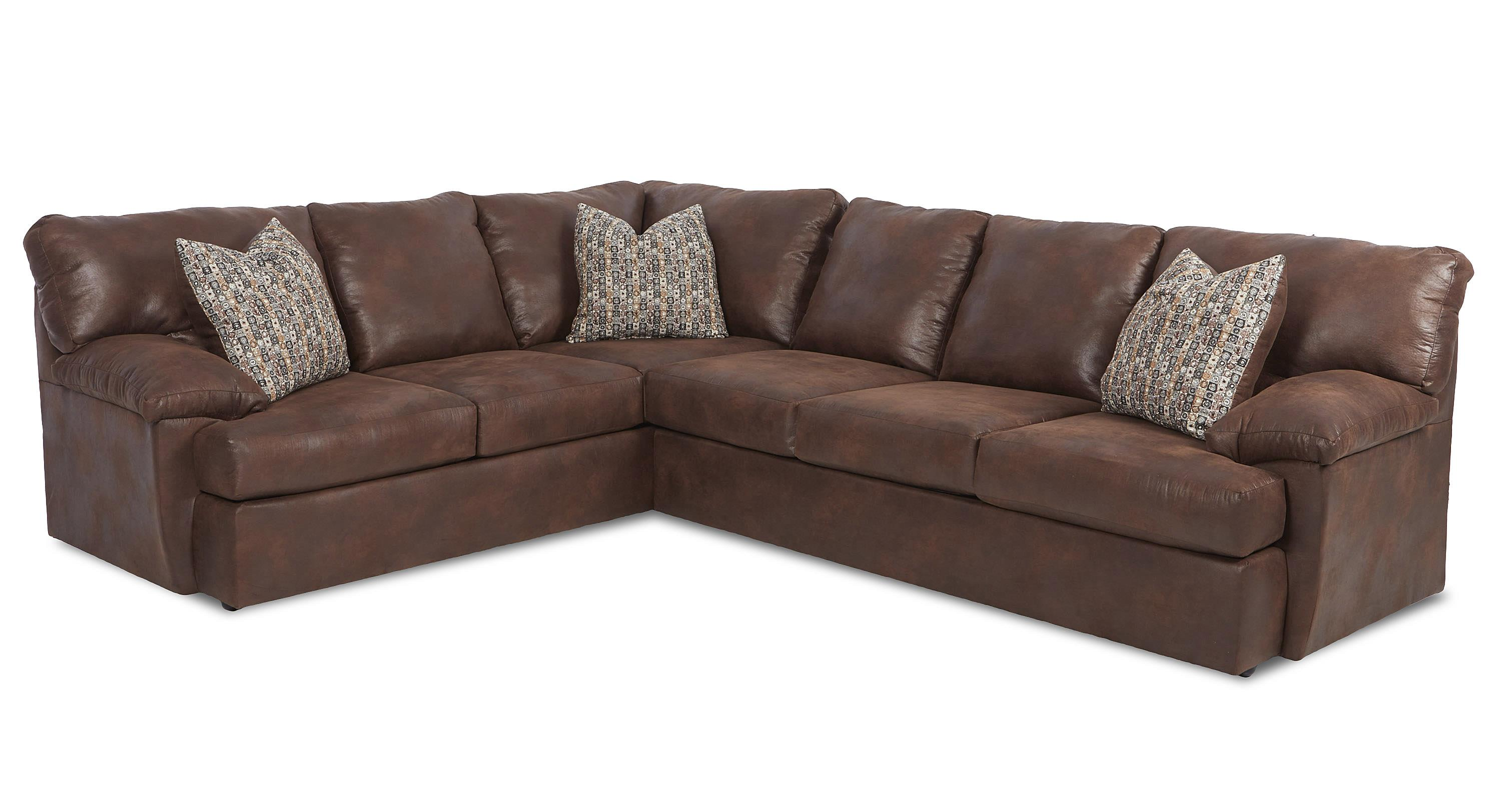 Casual sectional sofa by klaussner wolf and gardiner for Sectional sofas wolf furniture