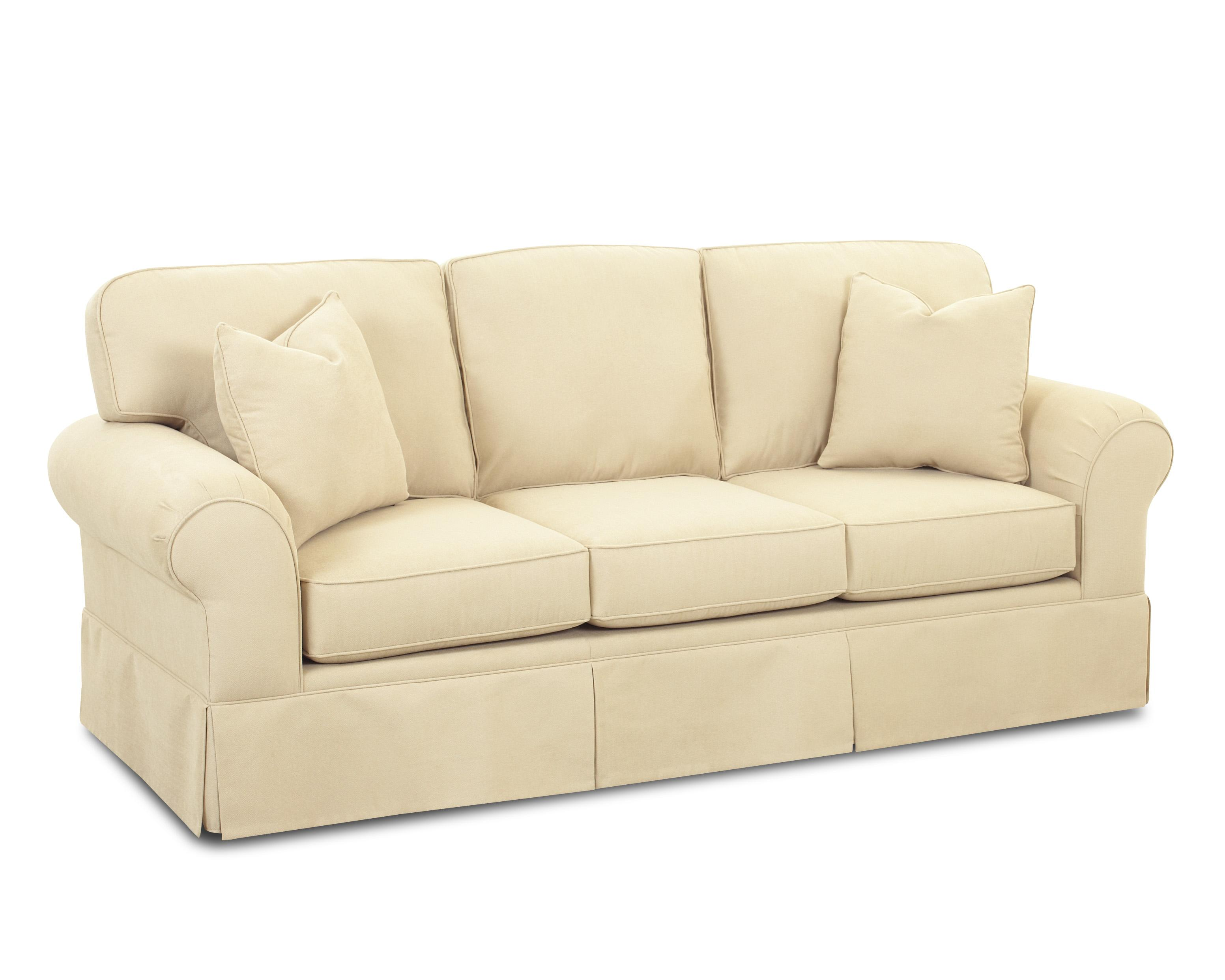 Casual skirted sofa by klaussner wolf and gardiner wolf for Sectional sofas wolf furniture
