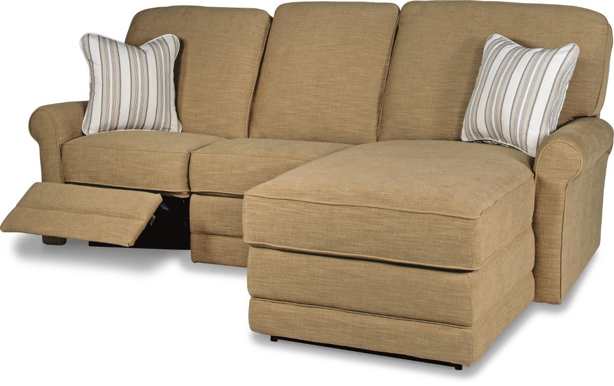 Two piece reclining sectional sofa with raf reclining for La z boy sectional sofas