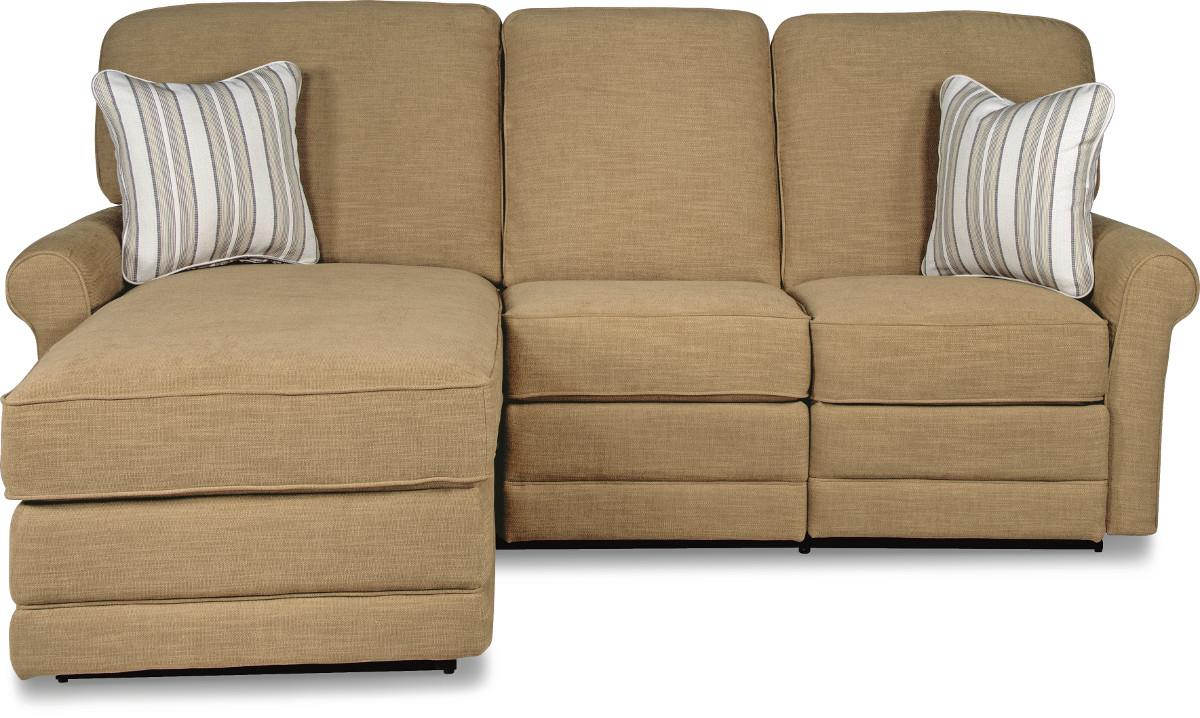 Two piece reclining sectional sofa with laf reclining for La z boy sectional sofas