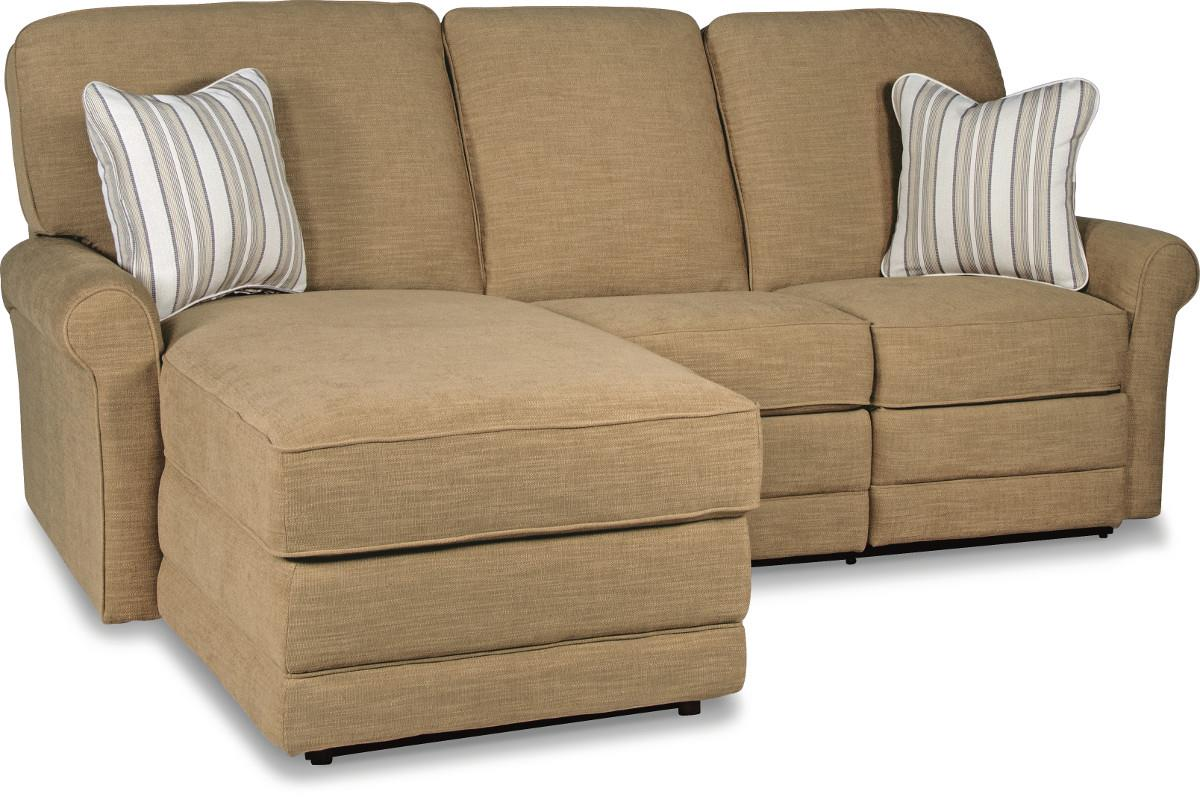 Two piece reclining sectional sofa with laf reclining for Sectional sofas with 2 chaises