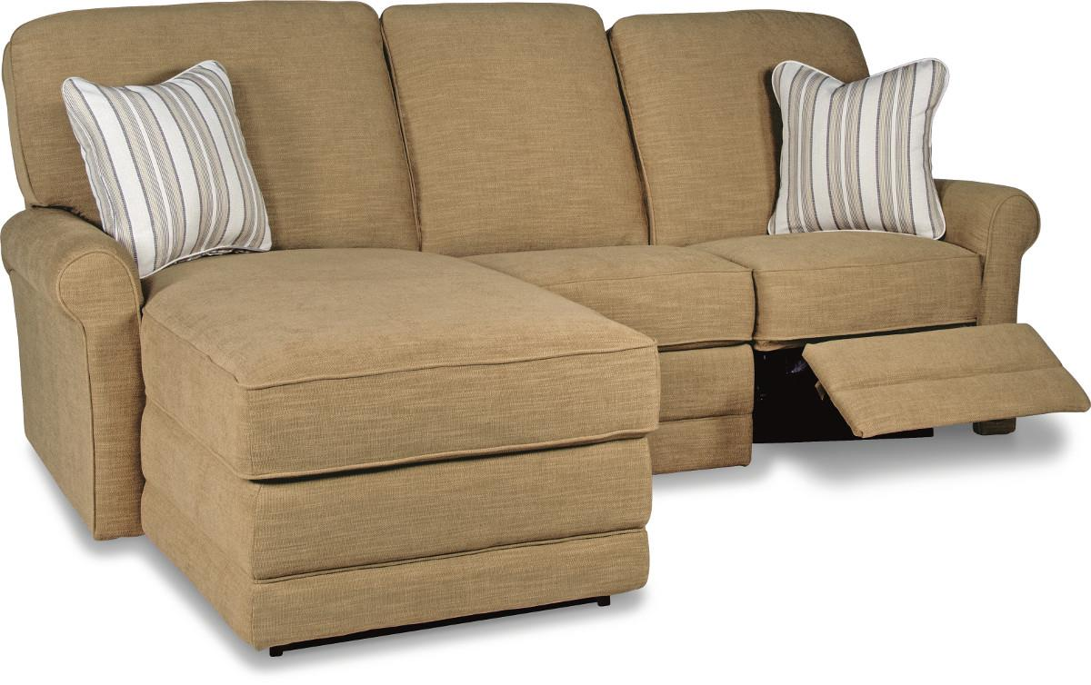 Two piece reclining sectional sofa with laf reclining for Sectional sofa with a recliner