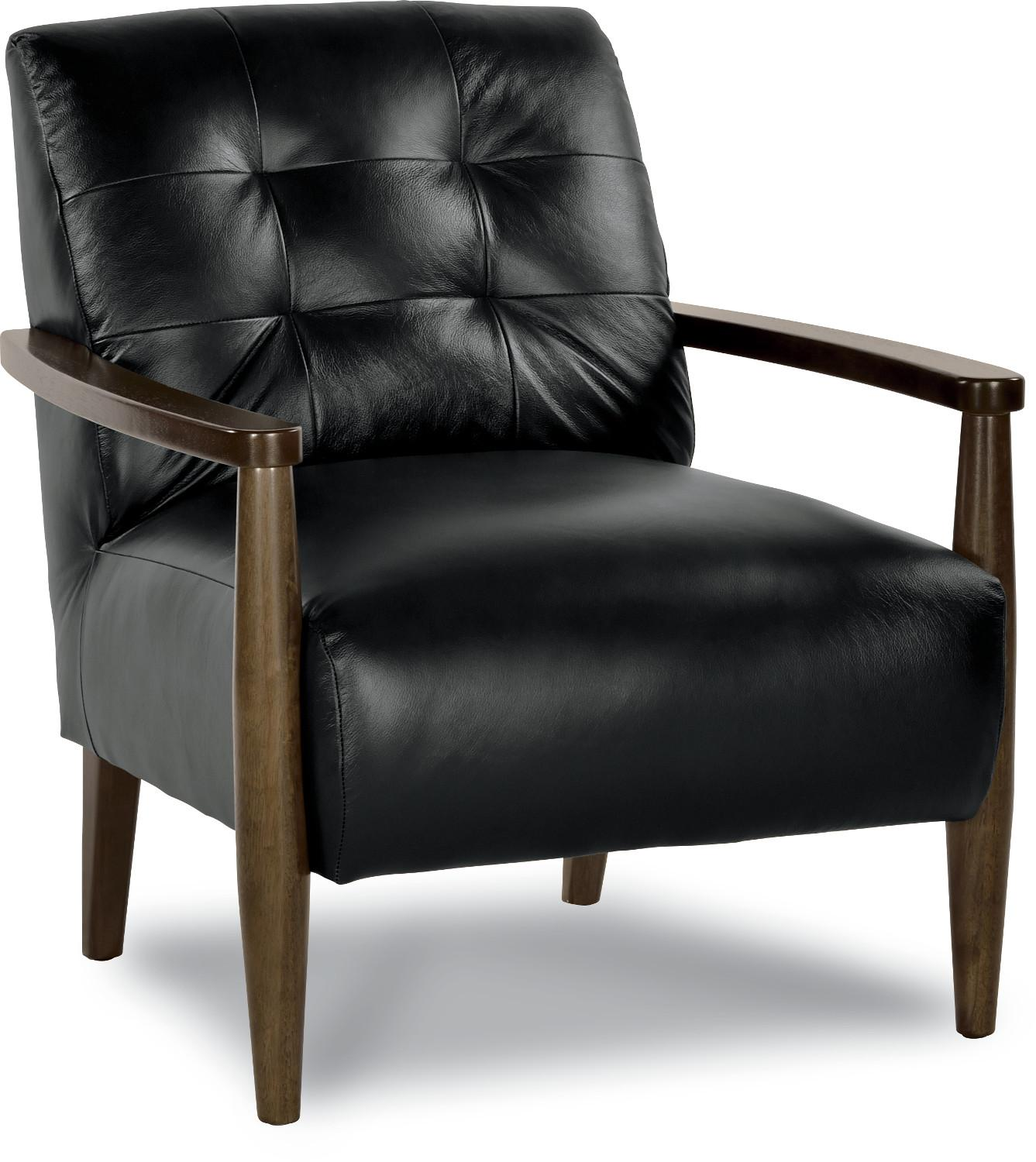 stiletto mid century modern chair with exposed wood arms by la z boy wolf and gardiner wolf. Black Bedroom Furniture Sets. Home Design Ideas
