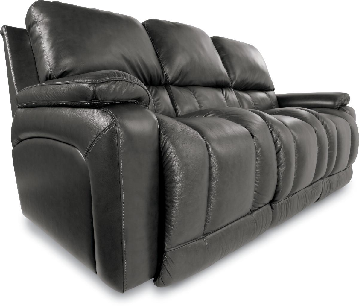 Casual La Z Time Full Reclining Sofa with Bucket Seating