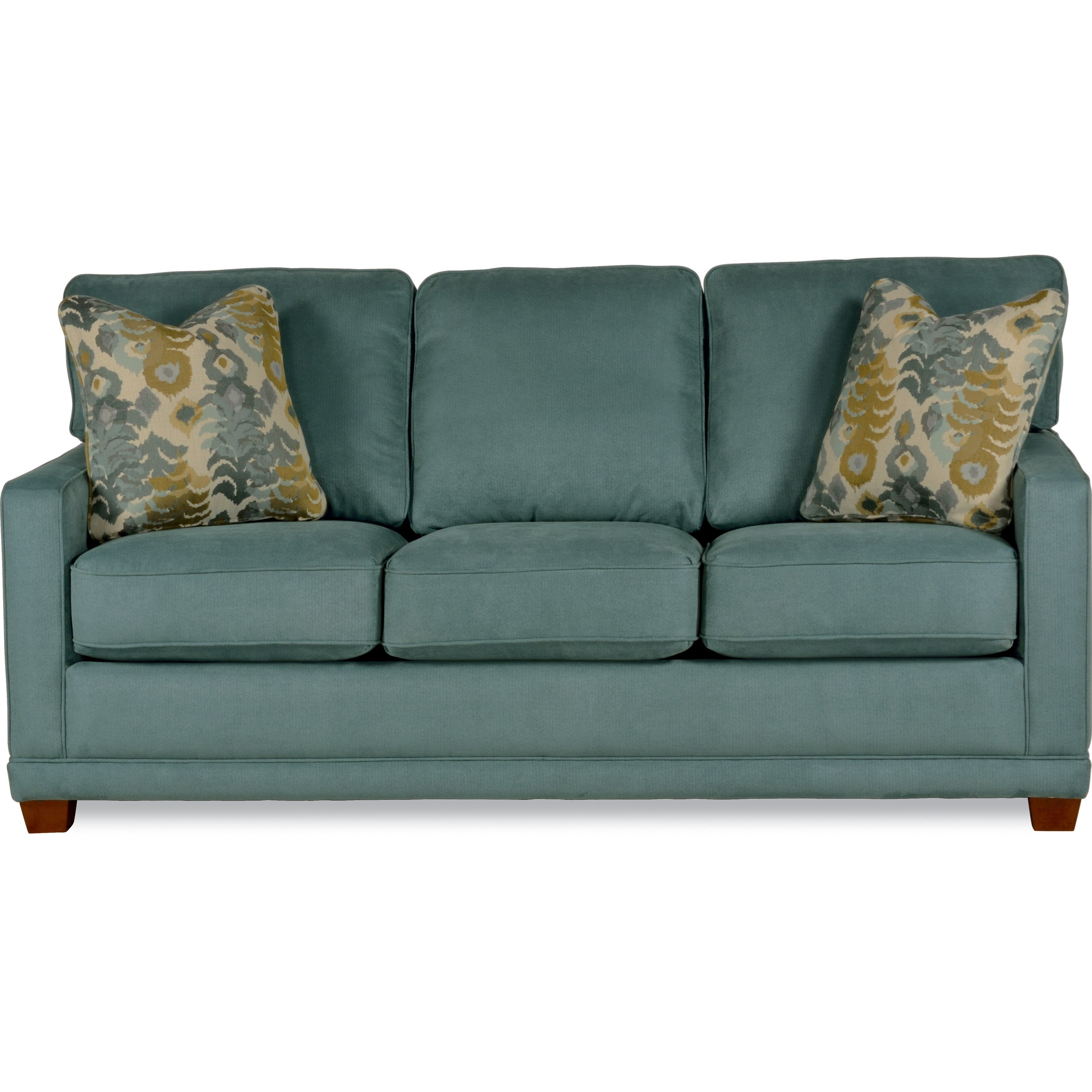 Transitional sofa with wood legs and welt cord by la z boy for Sofawelt outlet