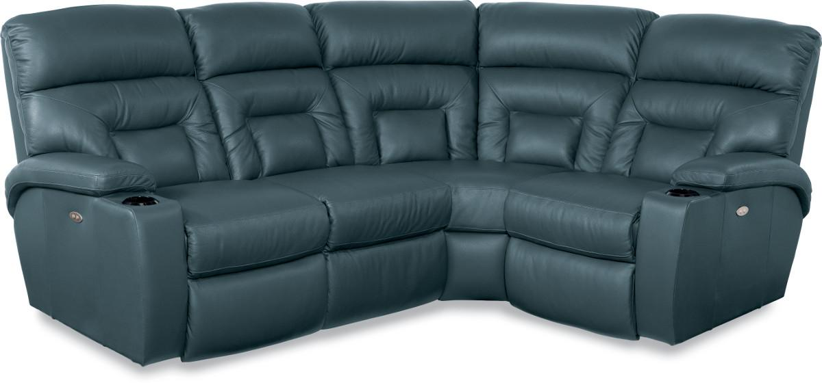 4 Pc Power Reclining Sectional Sofa With Lighting