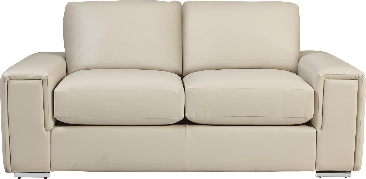 modern apartment size sofa with architectural lines and premier