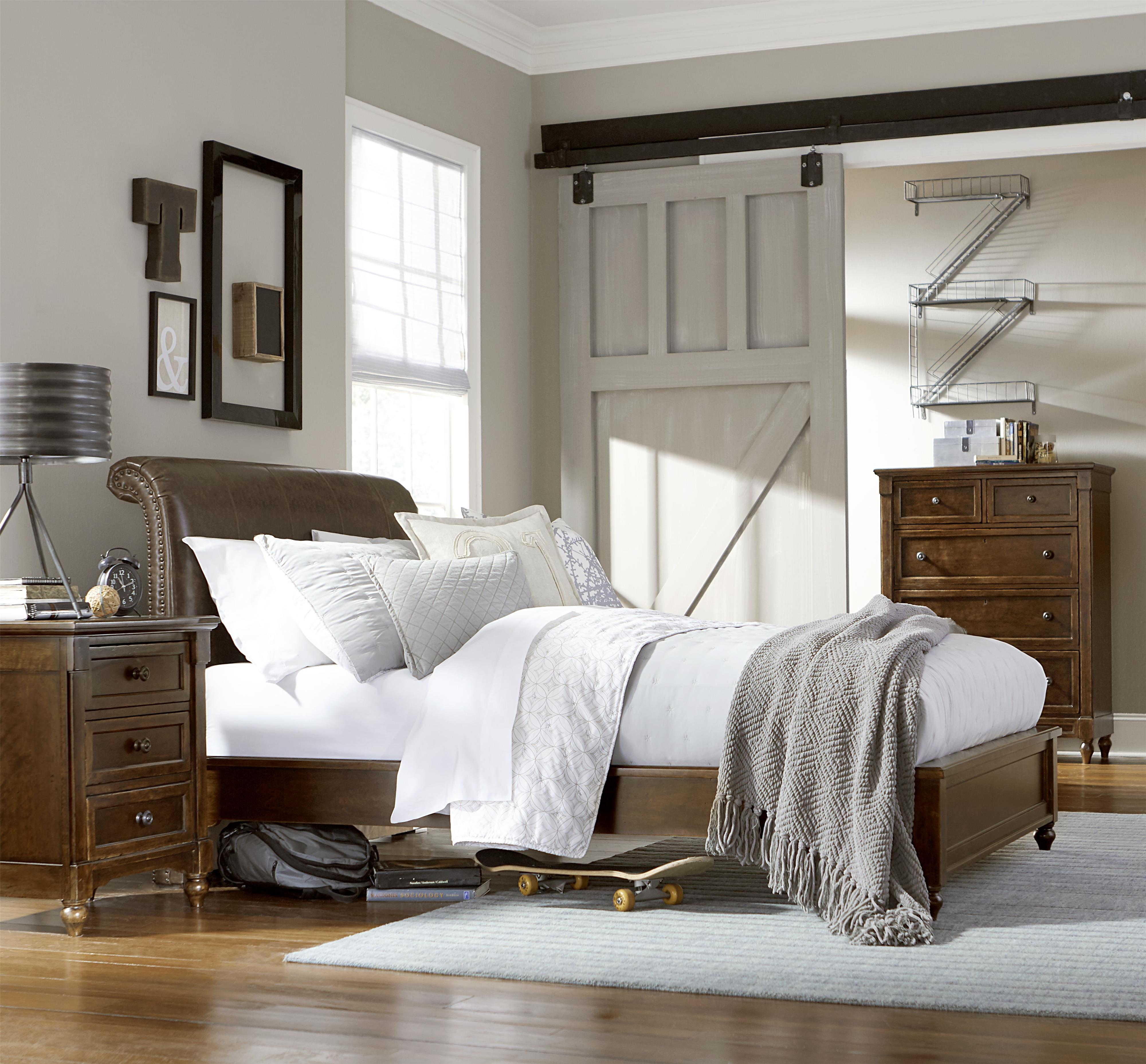 Twin upholstered bed by legacy classic kids wolf and for Legacy classic bed