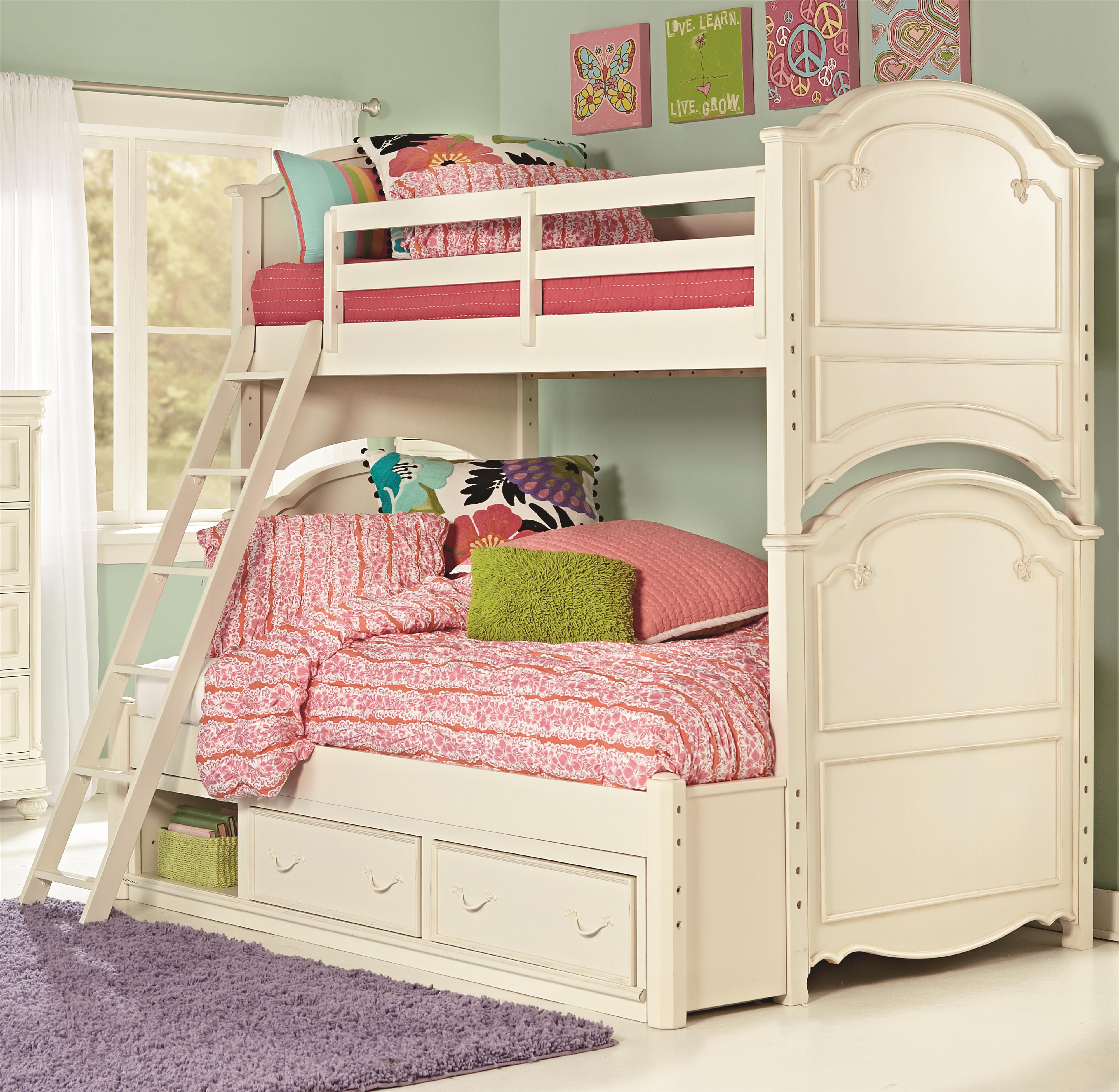 twin over full bunk bed with underbed storage unit by legacy classic kids wolf and gardiner. Black Bedroom Furniture Sets. Home Design Ideas