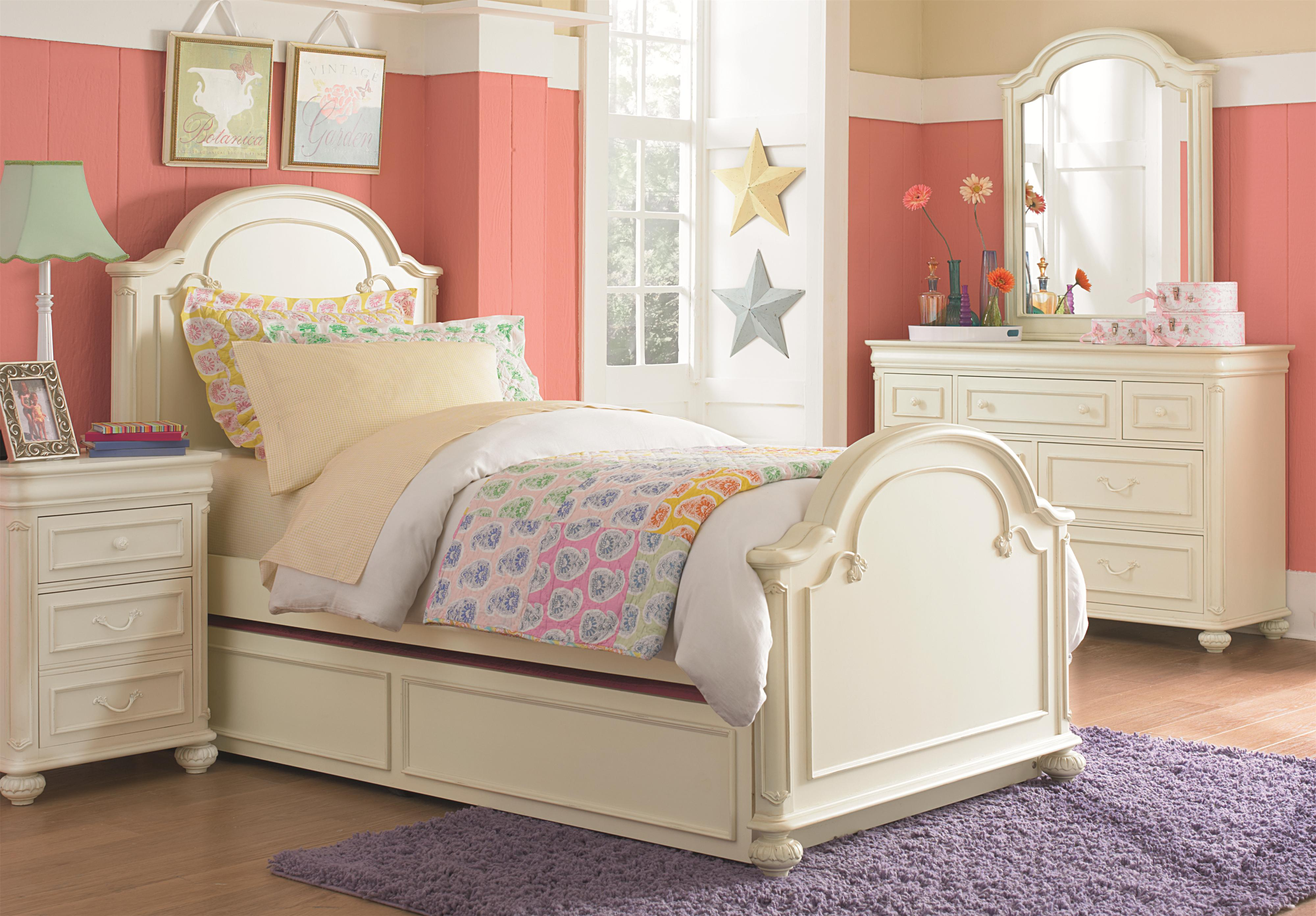 7 drawer dresser with carved bun feet and pilaster details for Youth furniture