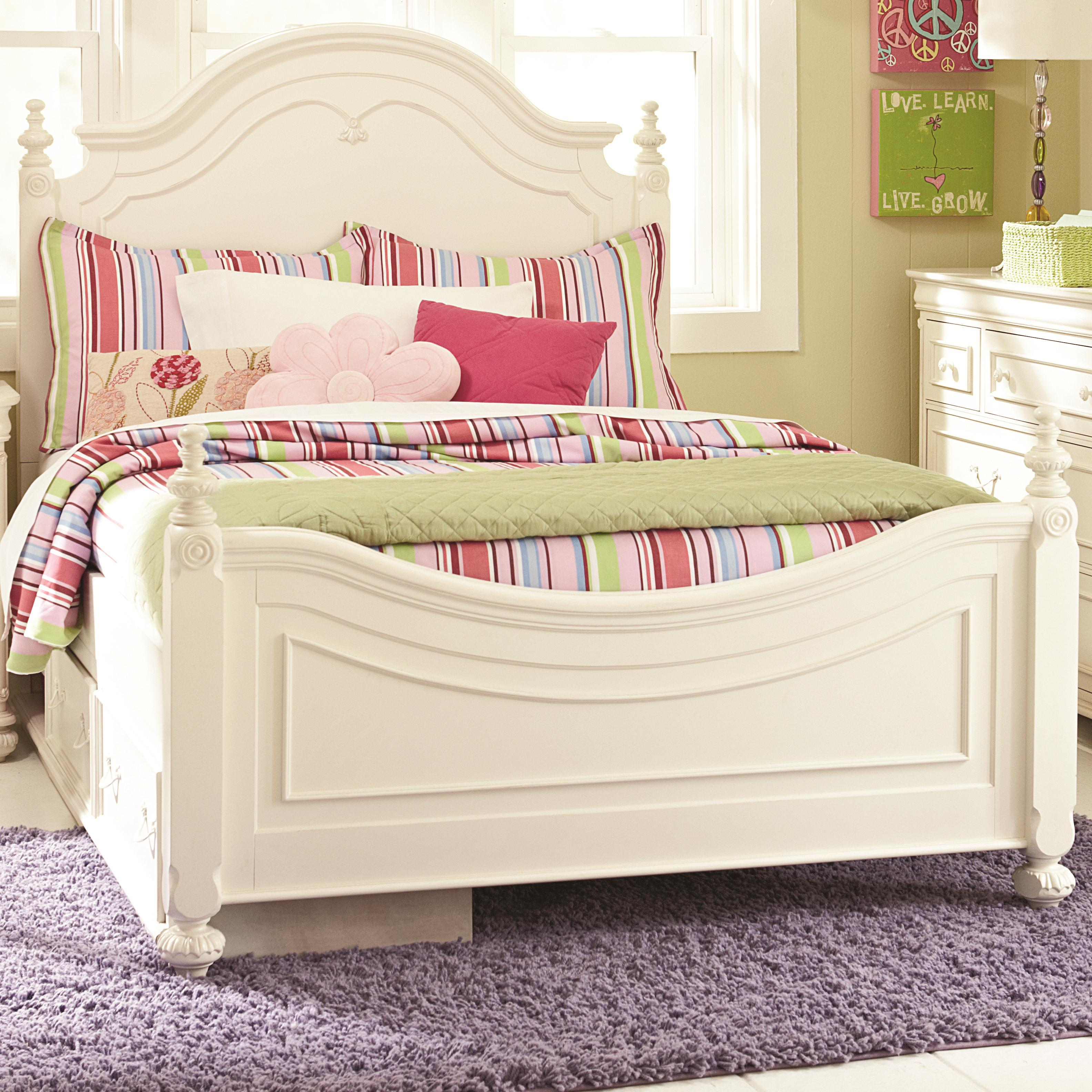 Twin Low Poster Bed With Underbed Storage Unit by Legacy