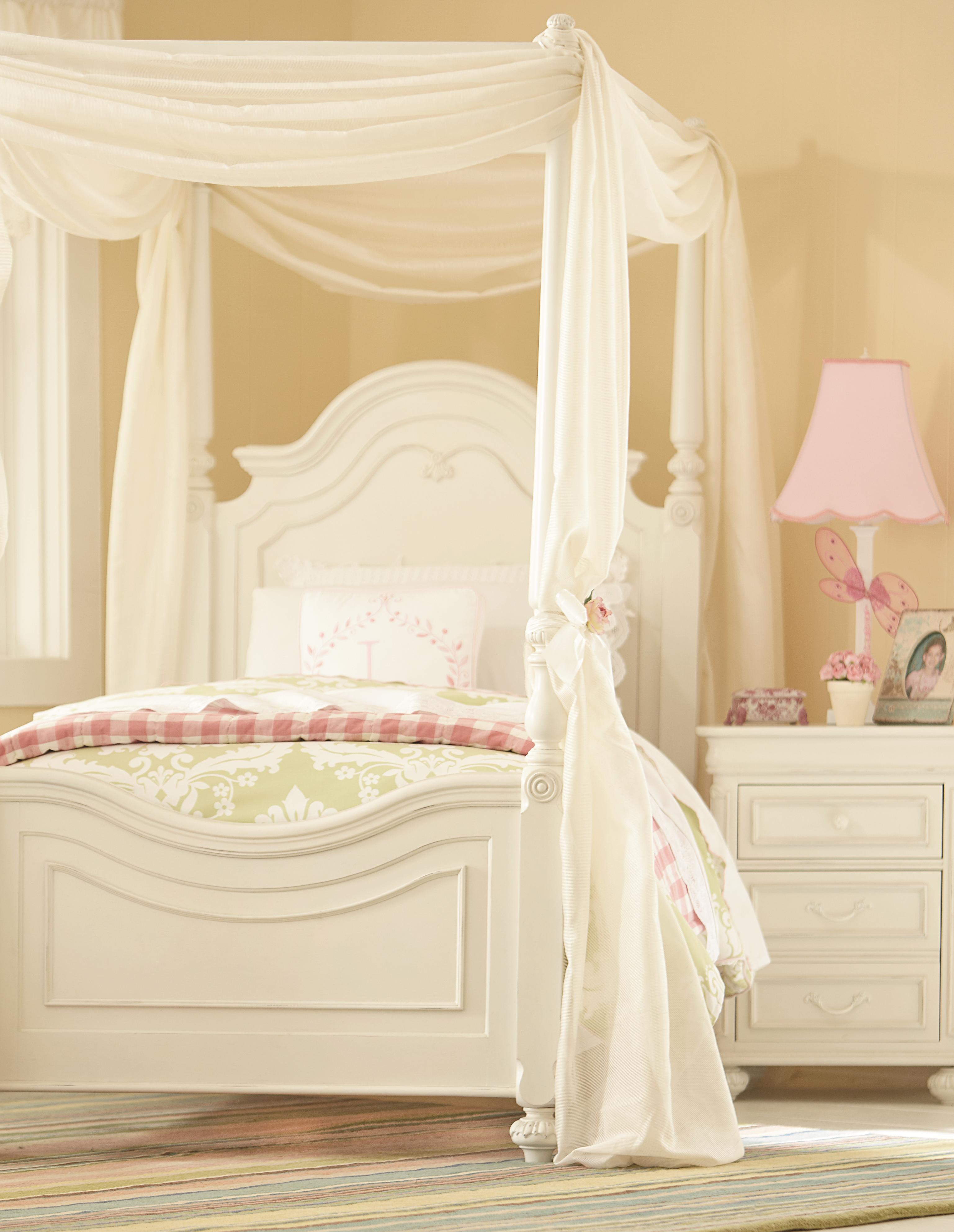 Twin Low Poster Bed With Canopy Frame By Legacy Classic