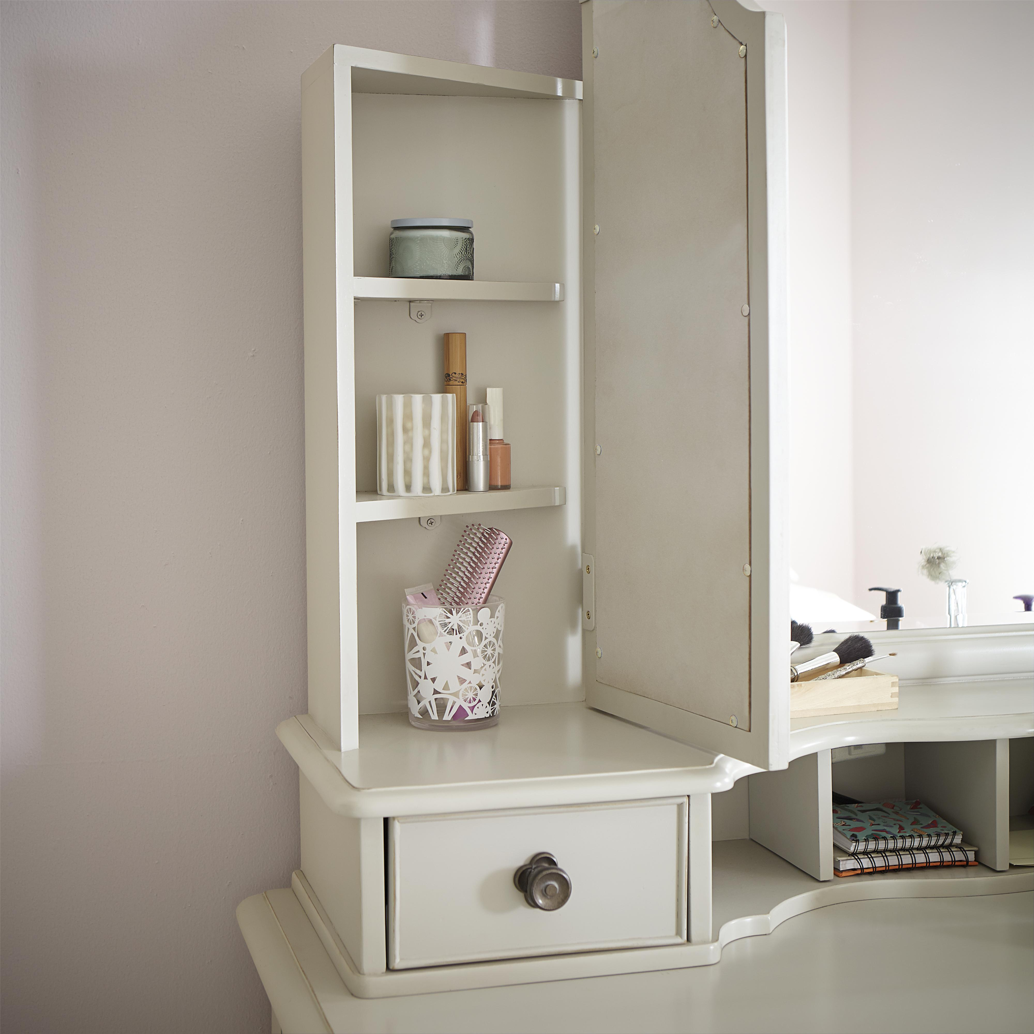 3 Drawer Boutique Desk With Vanity Mirror By Legacy