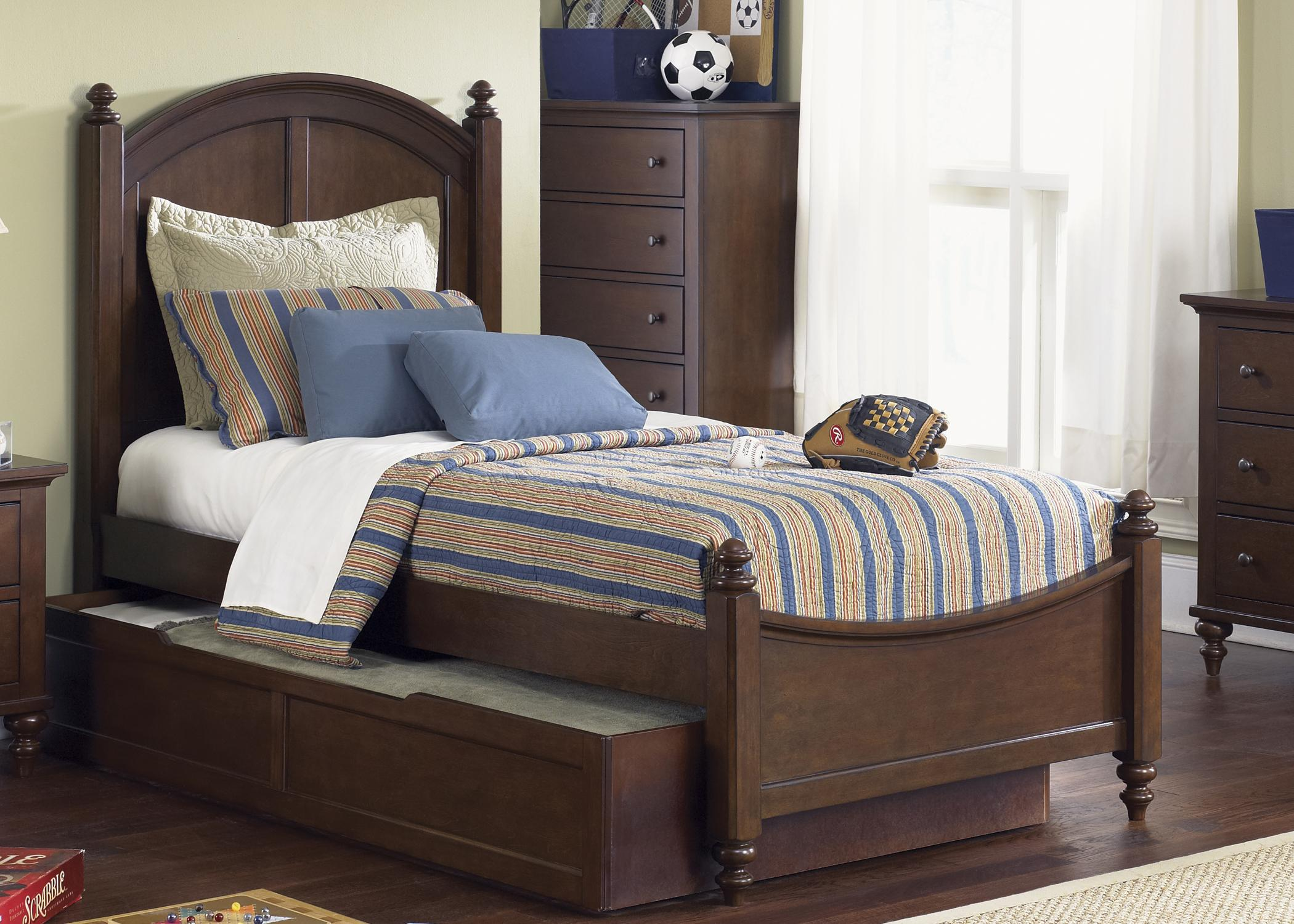 full panel bed with trundleliberty furniture | wolf