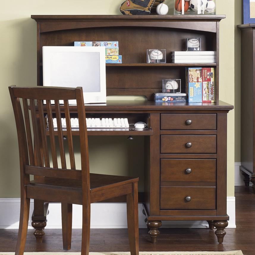 student desk with hutch by liberty furniture wolf and gardiner wolf furniture. Black Bedroom Furniture Sets. Home Design Ideas