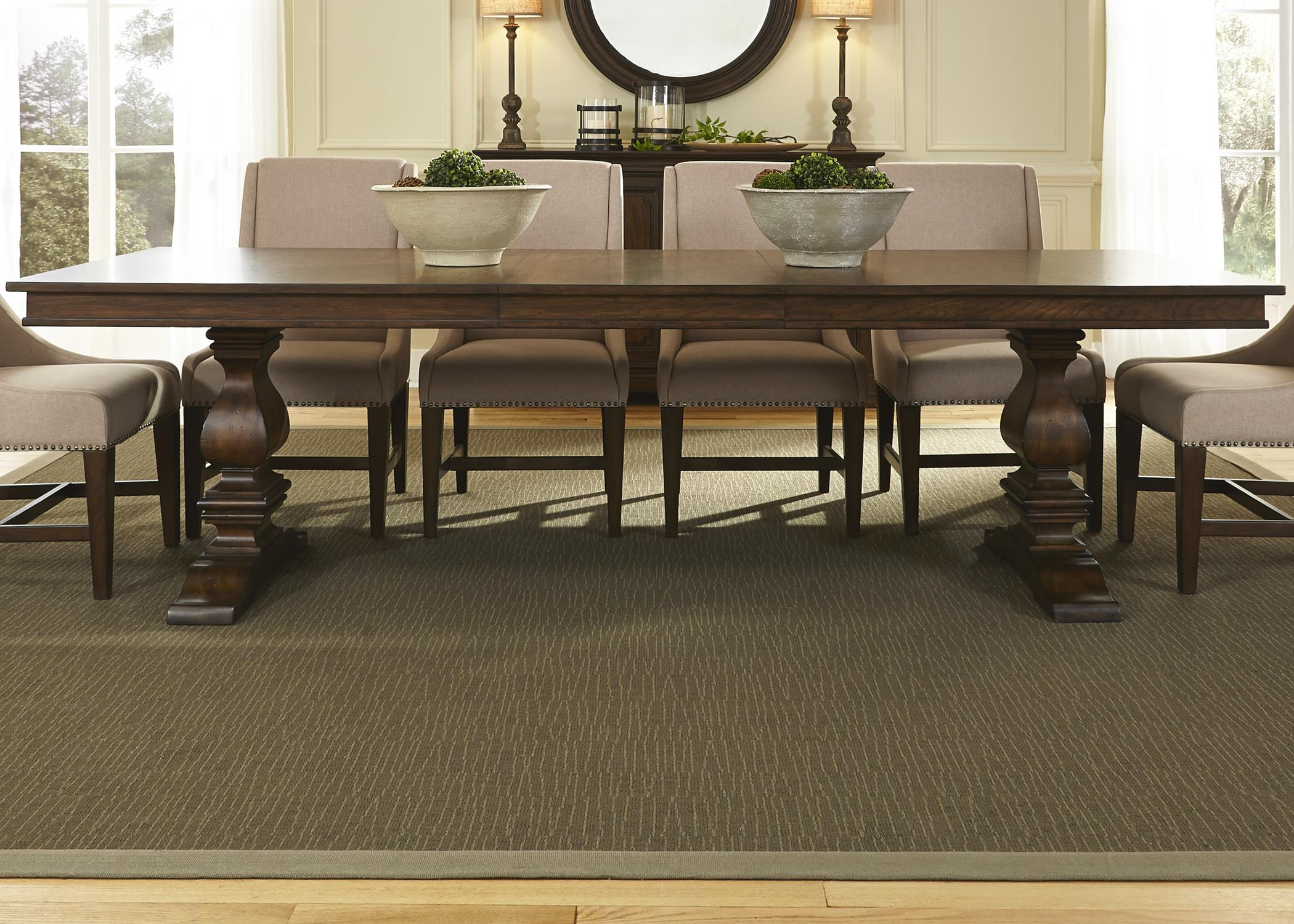 Traditional trestle table by liberty furniture wolf and for Outdoor furniture york pa