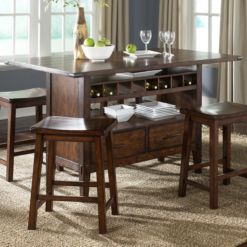 Center Island Pub Table by Liberty Furniture